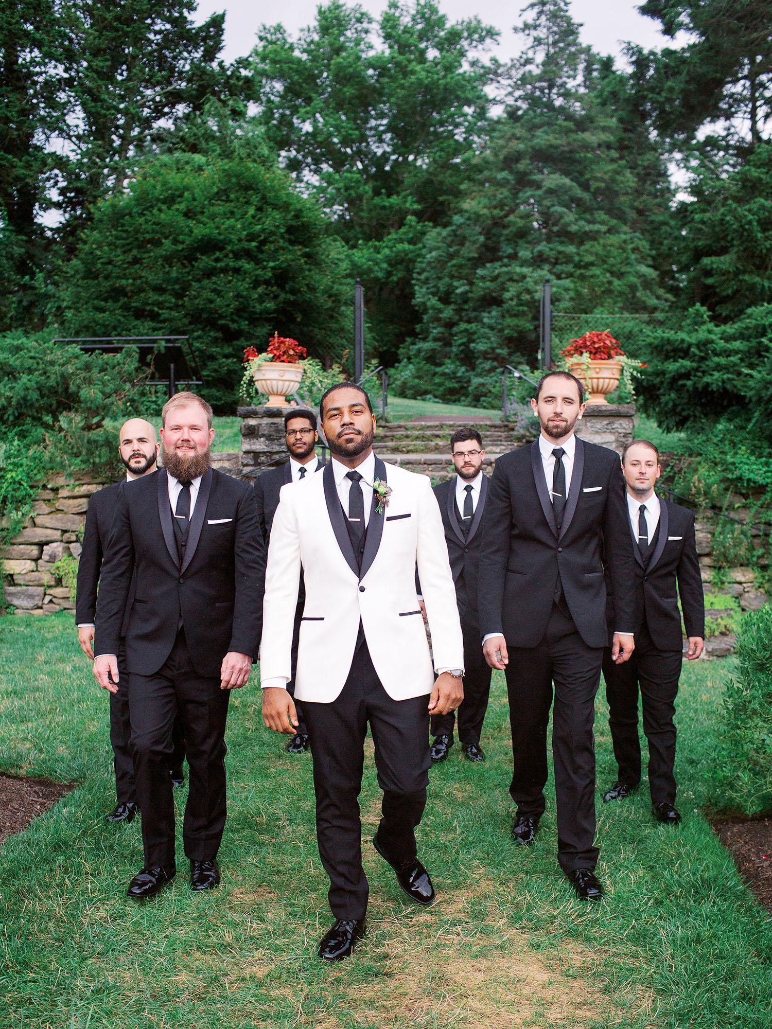 noel mike wedding groom and groomsmen