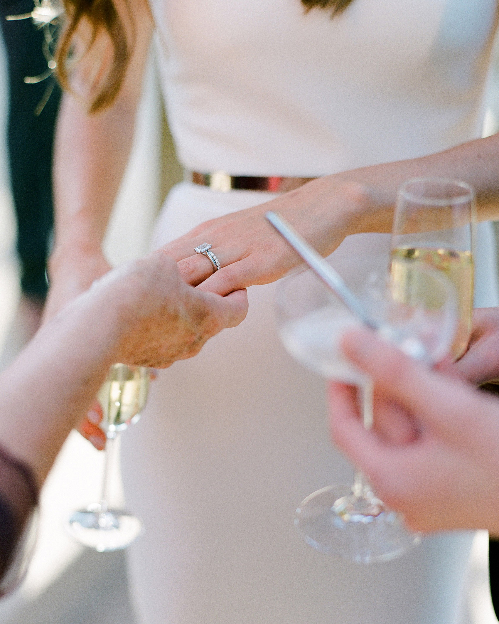 Should You Have Your Engagement Ring Cleaned Before Each of Your Wedding Events?