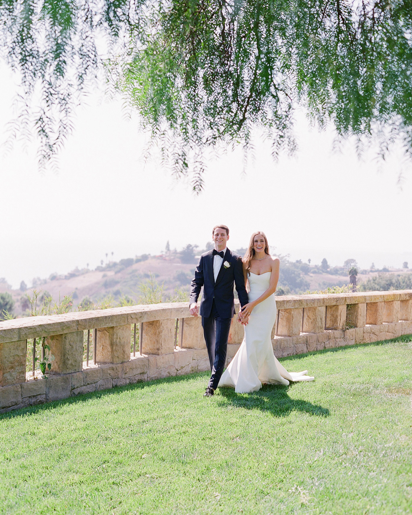 You Can Almost Smell This Couple's Lemon- and Rosemary-Filled Backyard Wedding in Montecito
