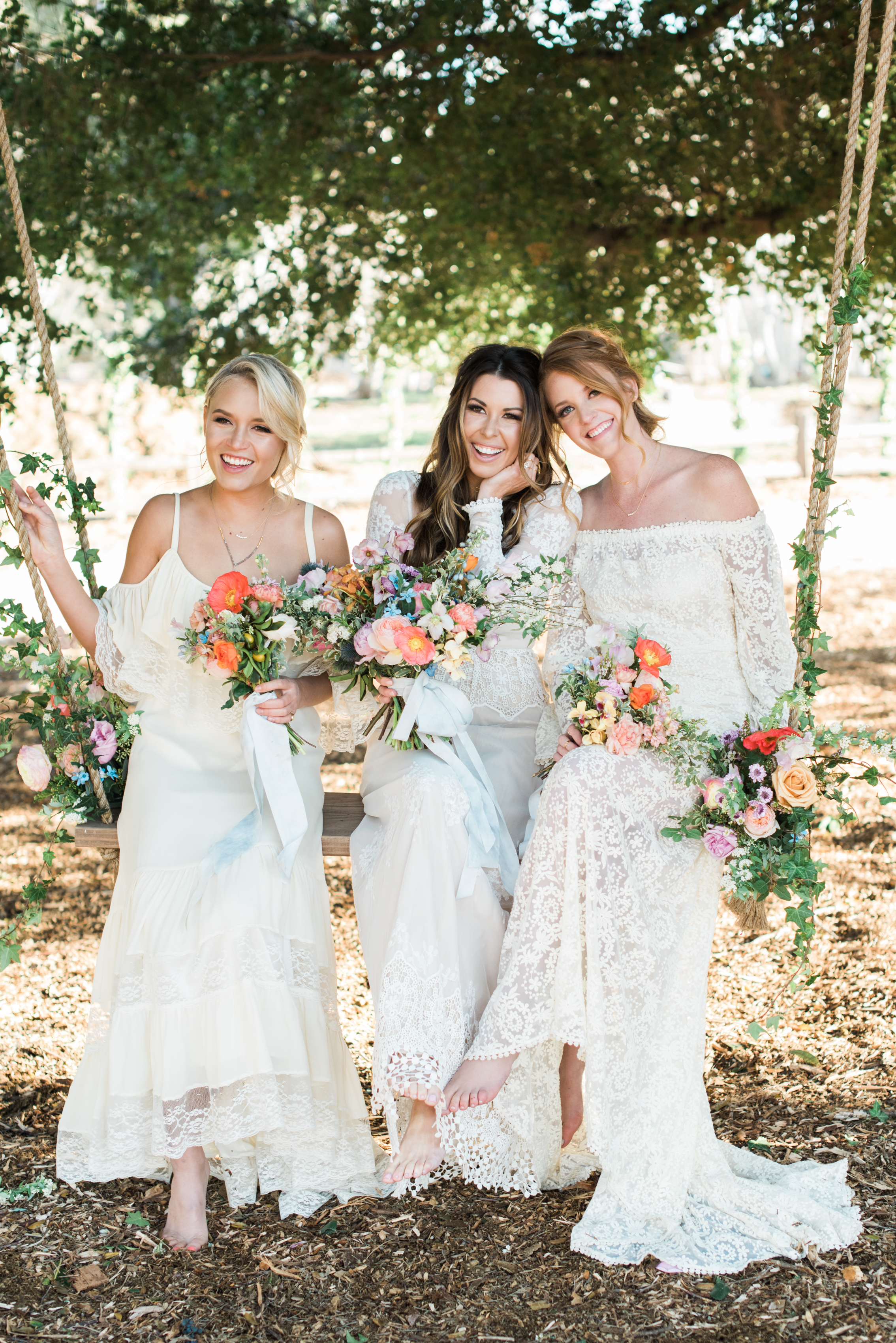 summer bridal shower ideas brides with guests in white