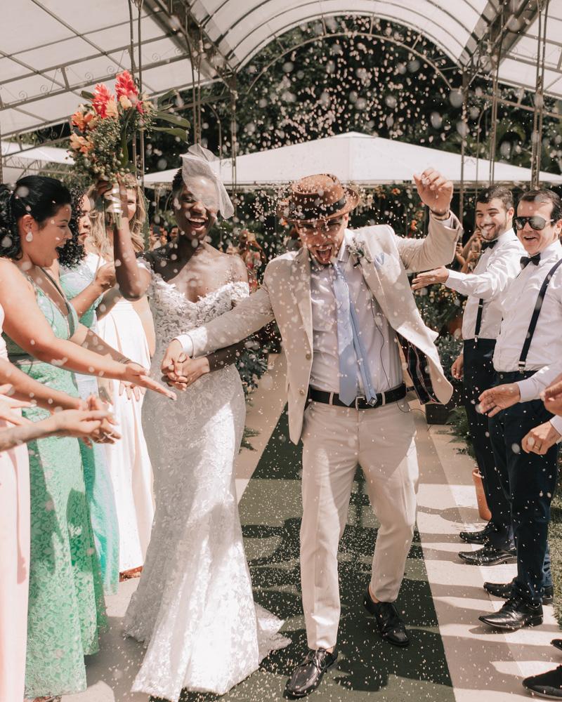 bride groom wedding recession green carpet