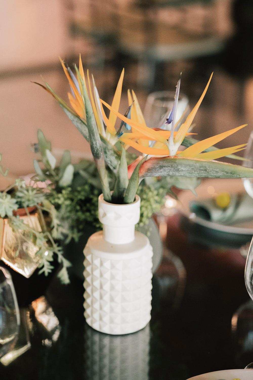 white wedding vase colorful plan