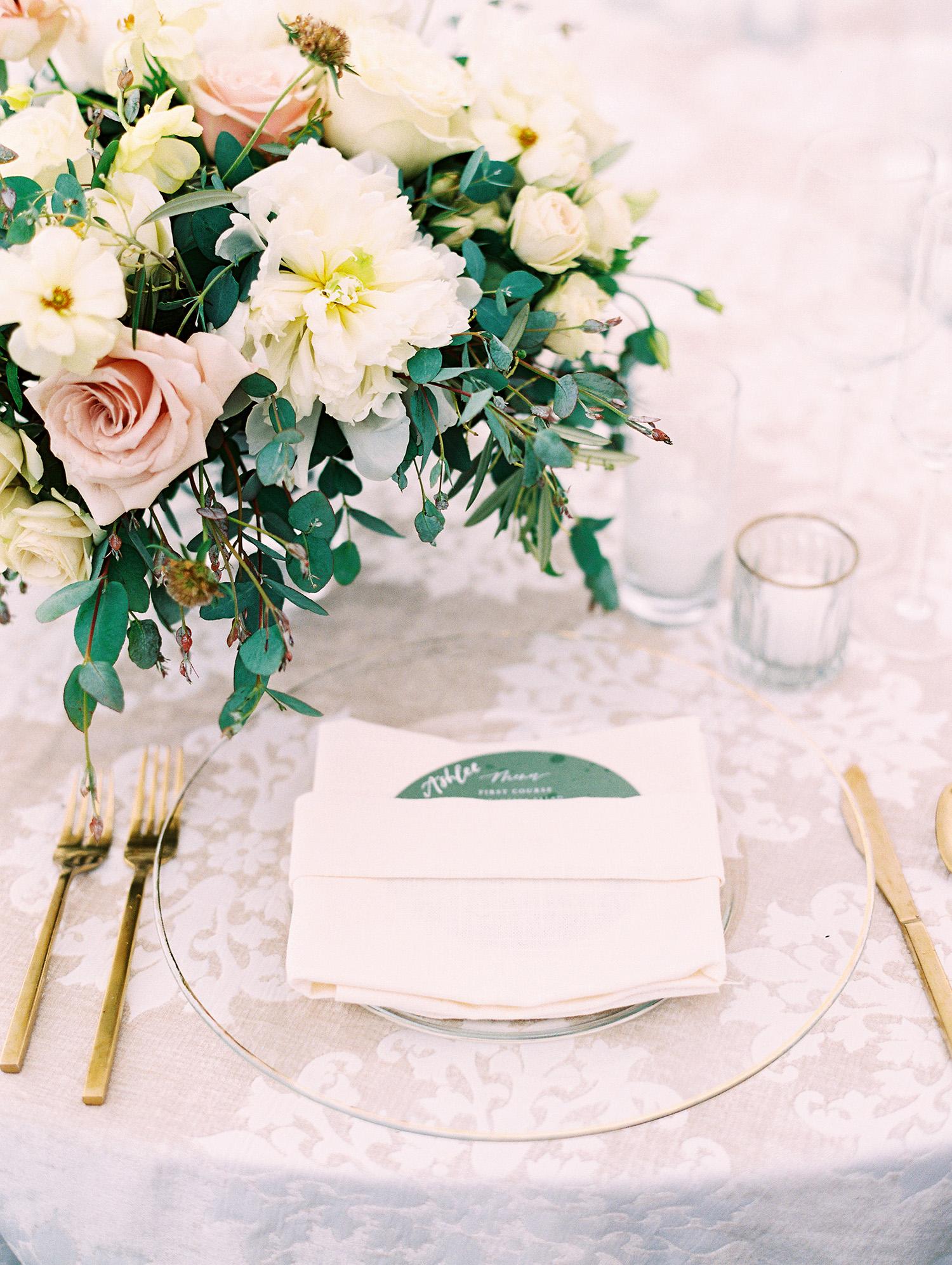 kati erik wedding place settings reception