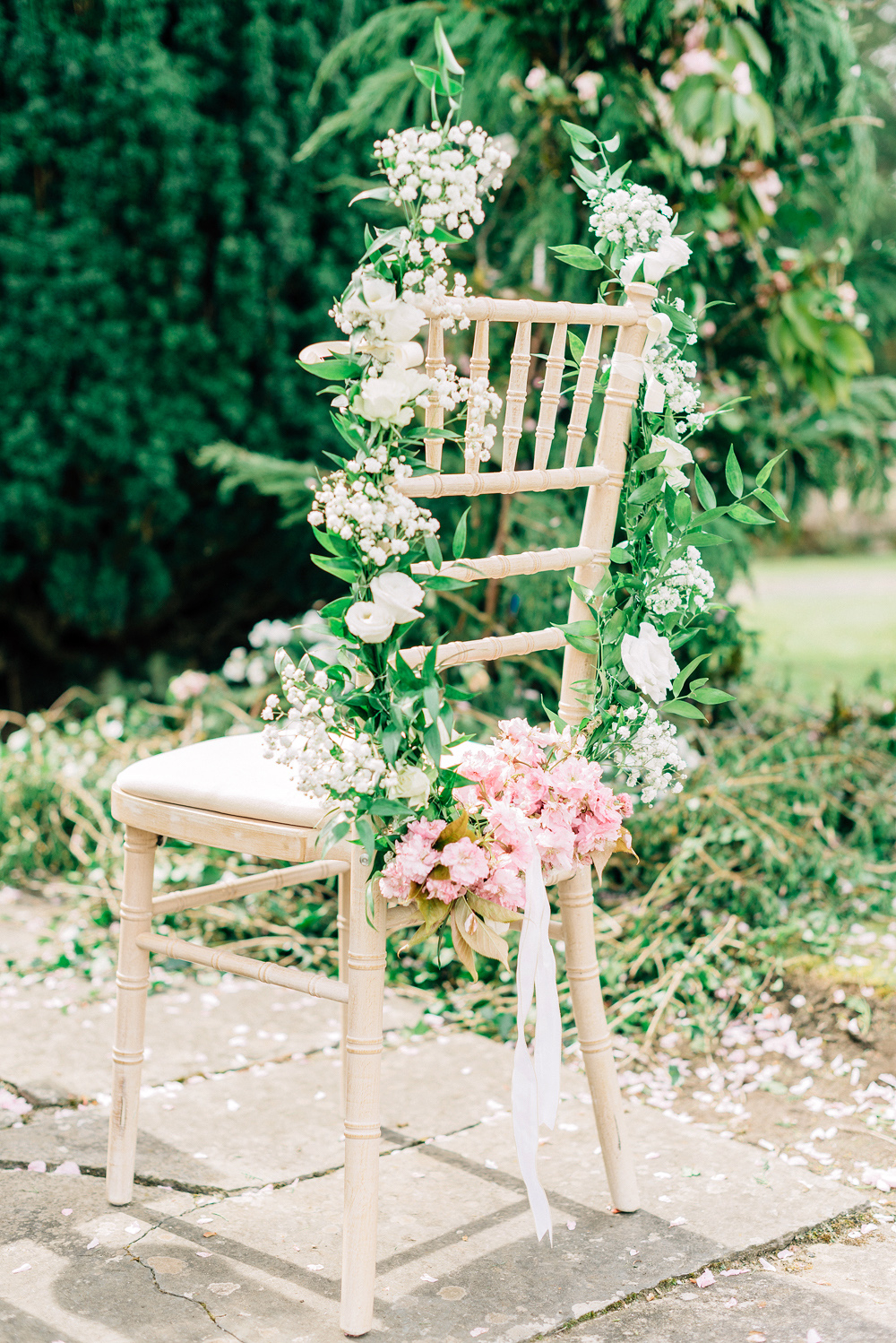 blathnaid daire wedding ceremony chairs flowers