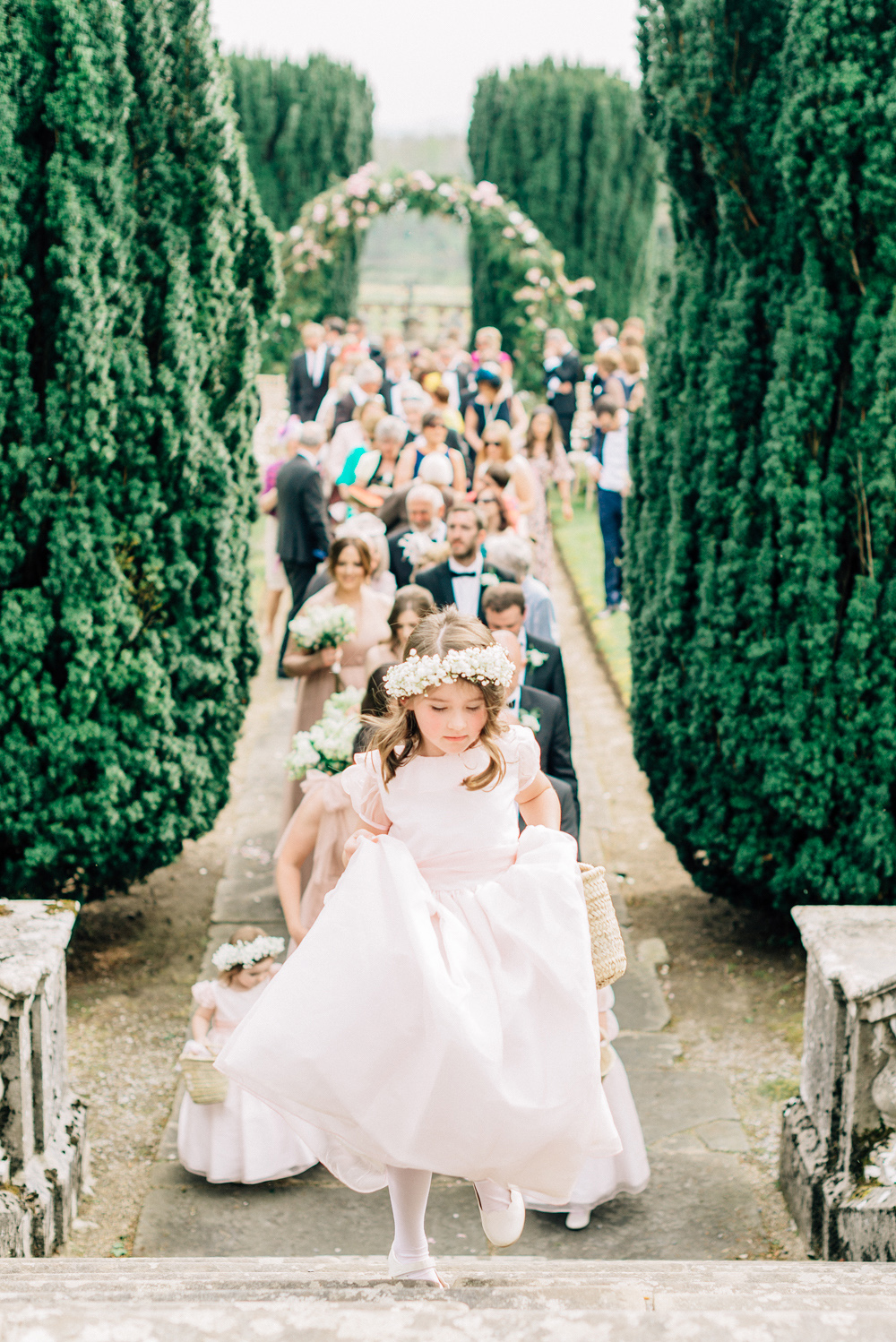 blathnaid daire wedding processional flower girl