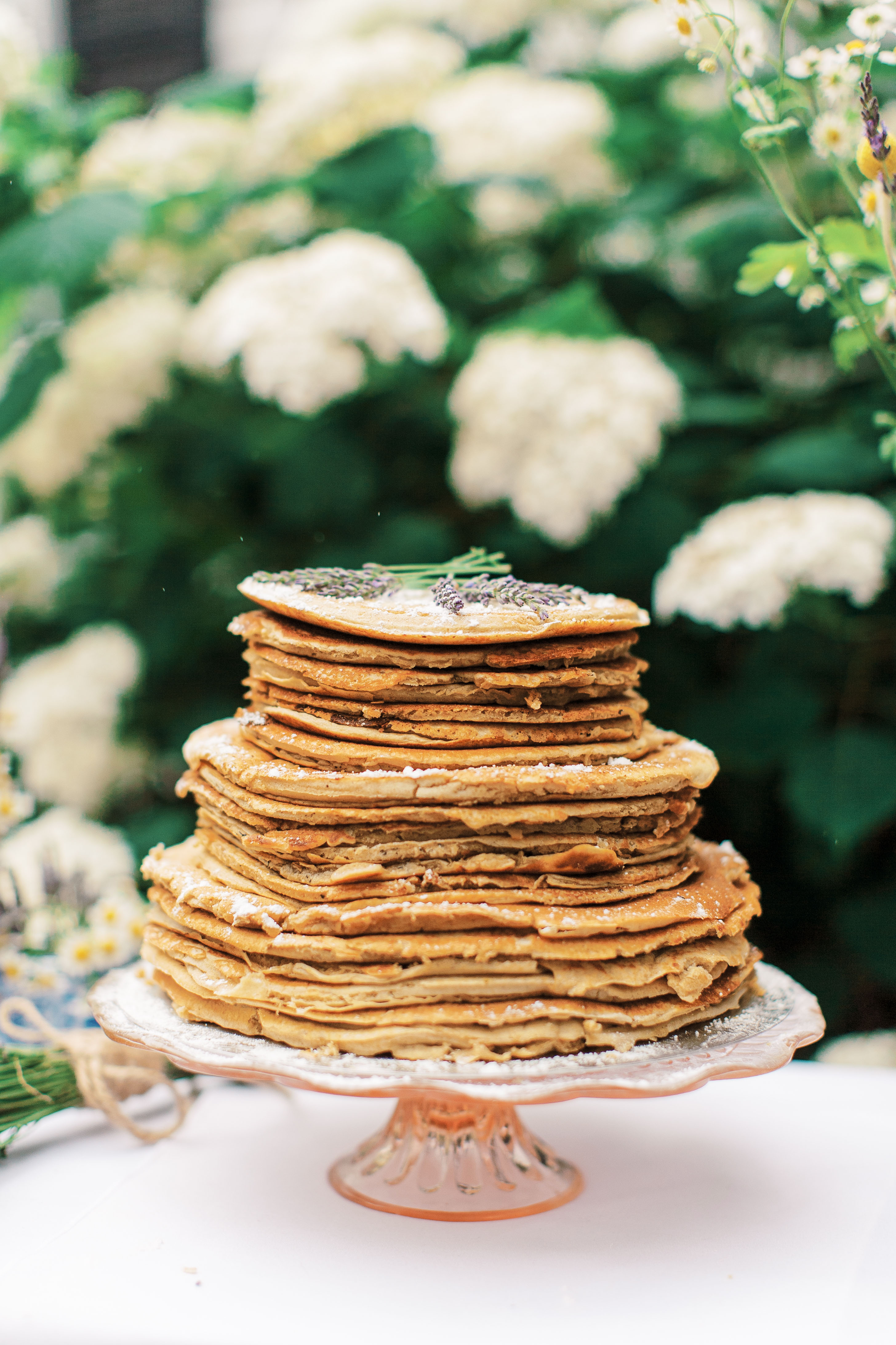 pancake stack in place of wedding cake