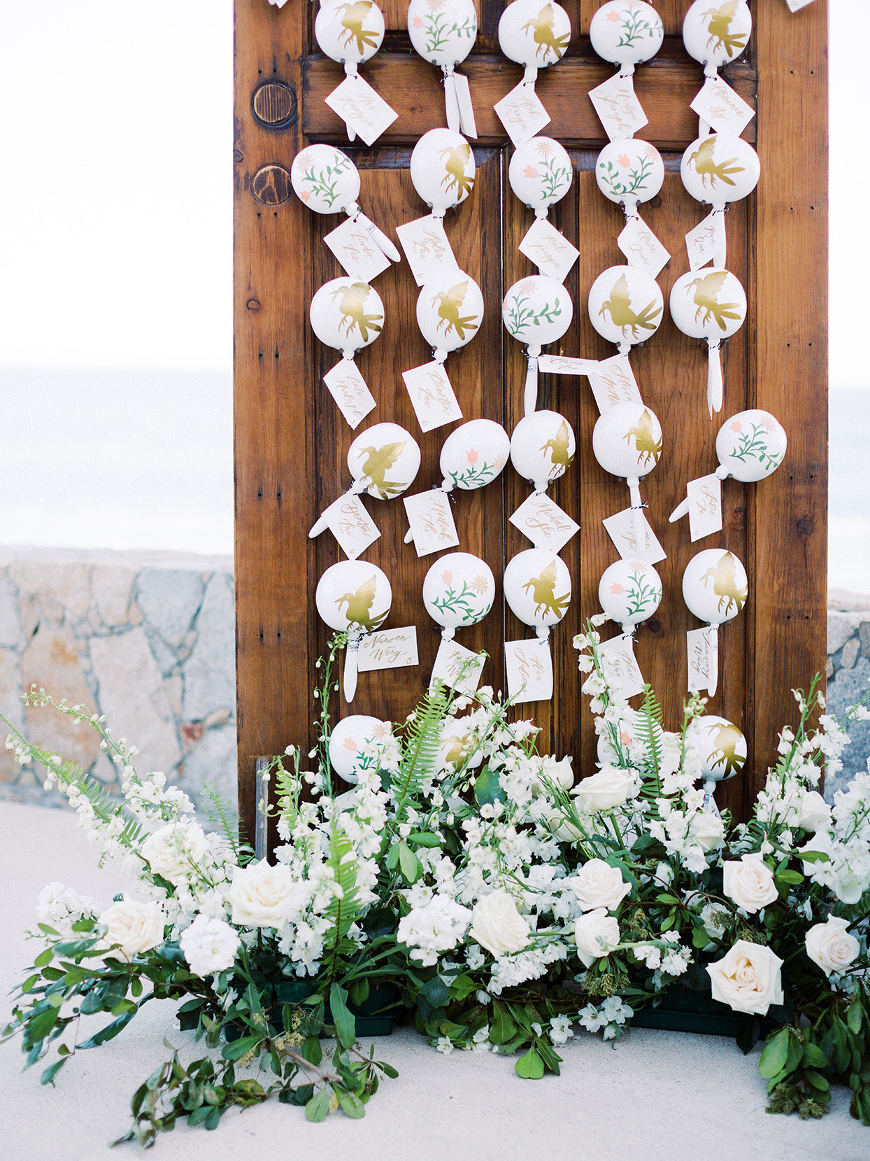 kirsten deran wedding escort cards maracas