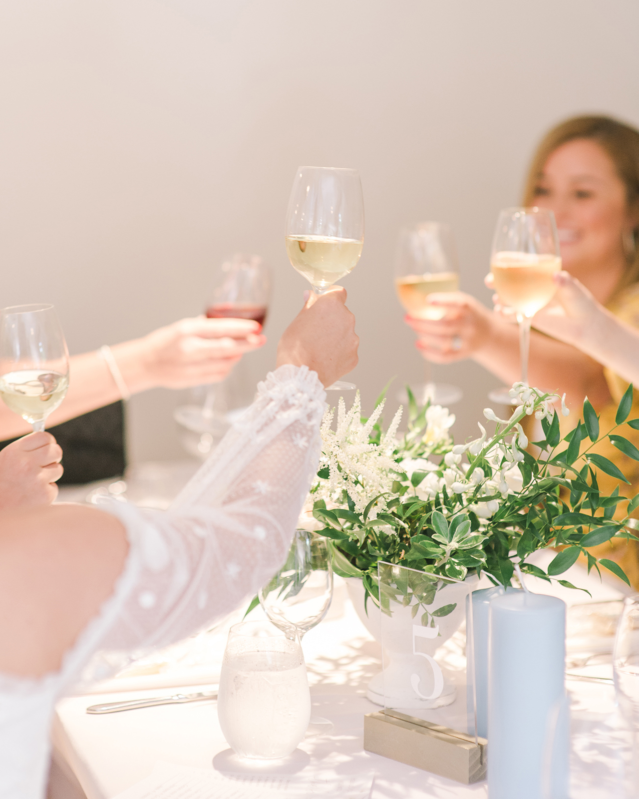 bridal party toast to the bride