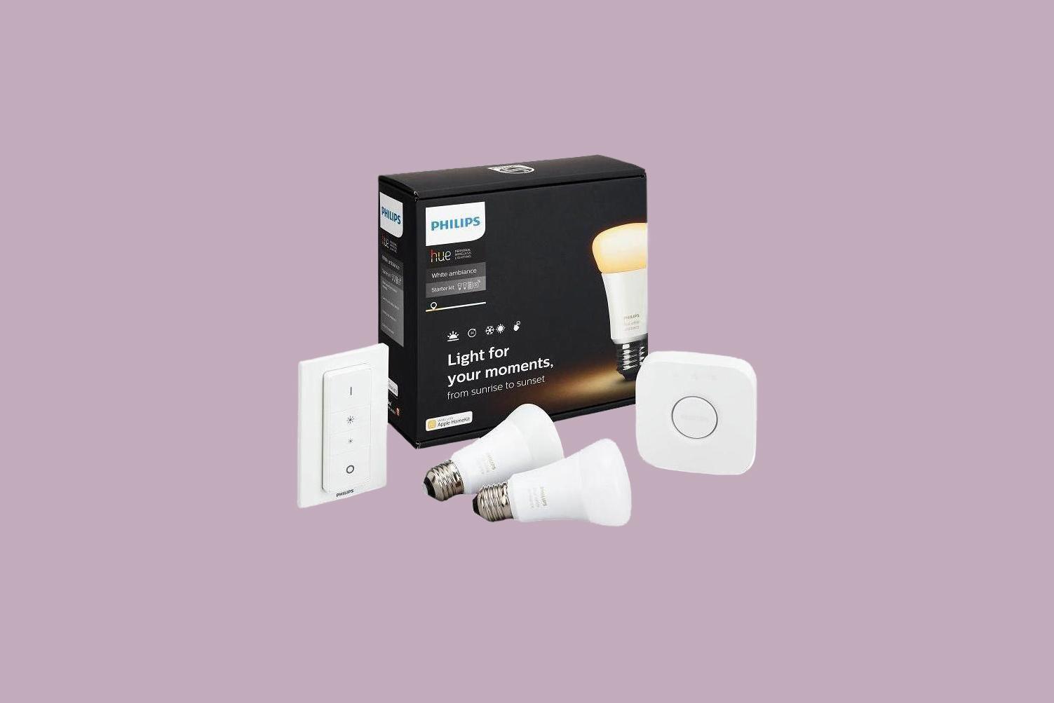 Phillips Hue White Ambiance Smart Lighting Starter Kit