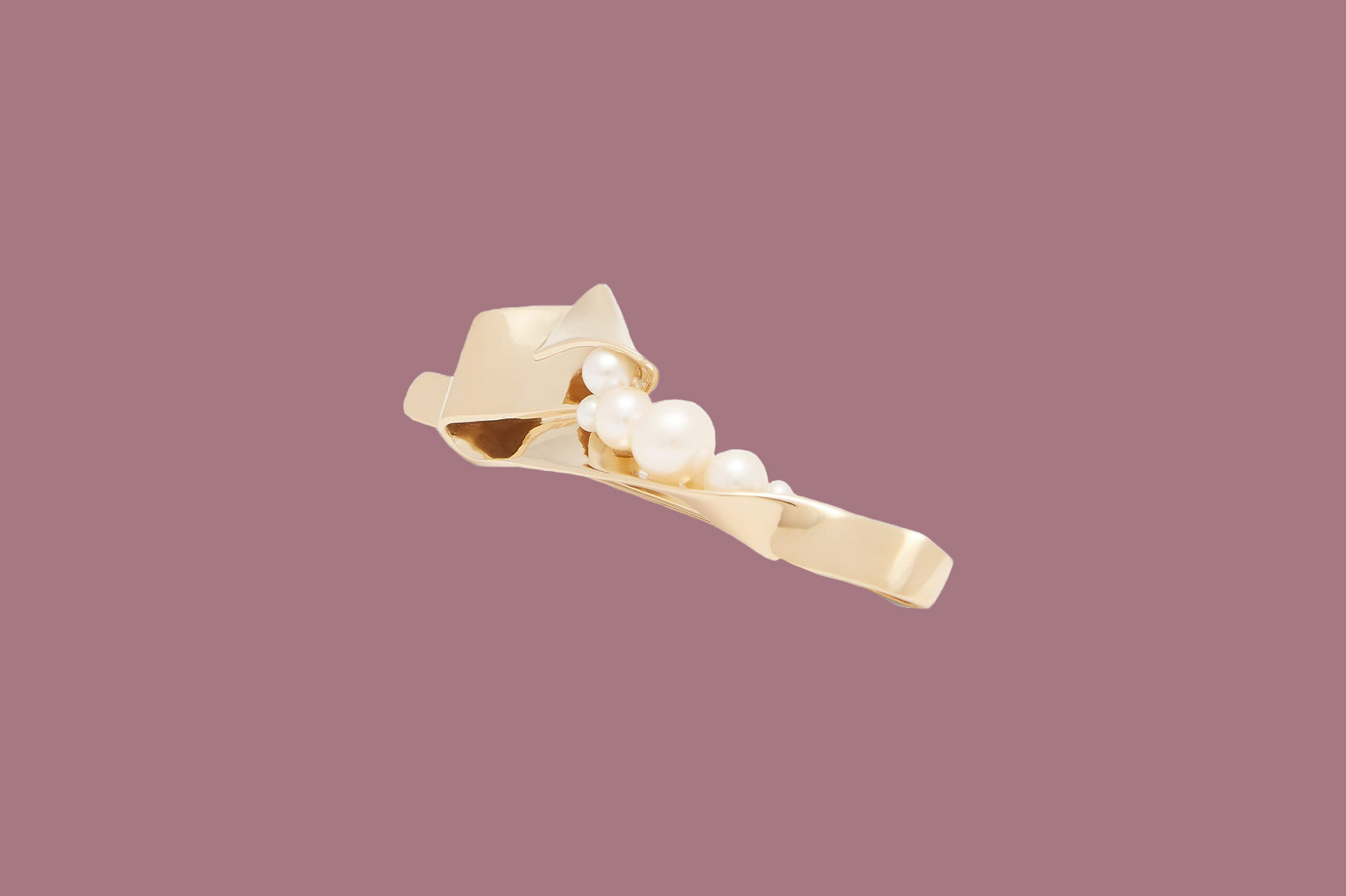 Completed Works Pearl-Embellished Gold-Vermeil Hair Slide
