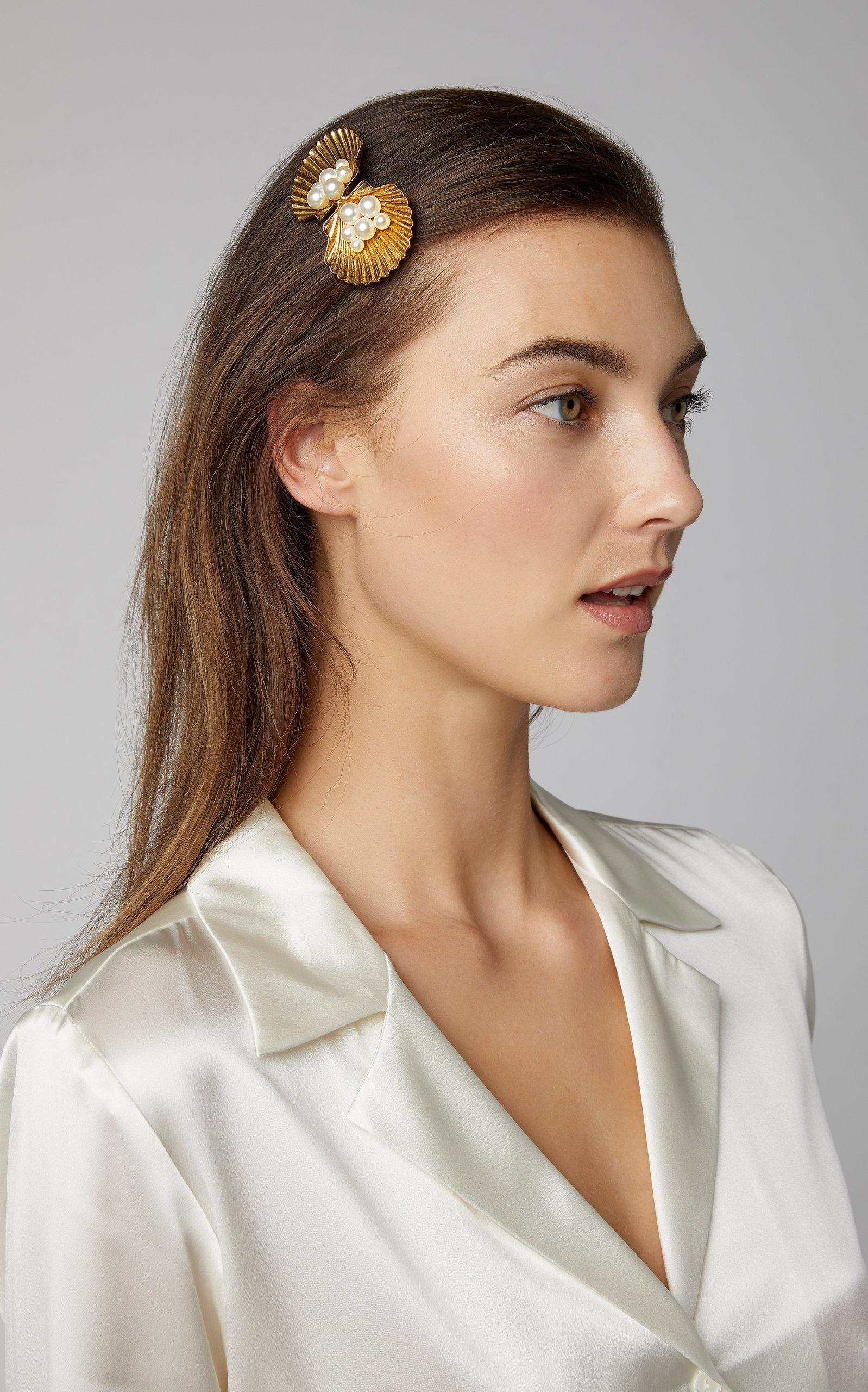 """Jennifer Behr """"Botticelli"""" Faux Pearl-Embellished Barrette"""