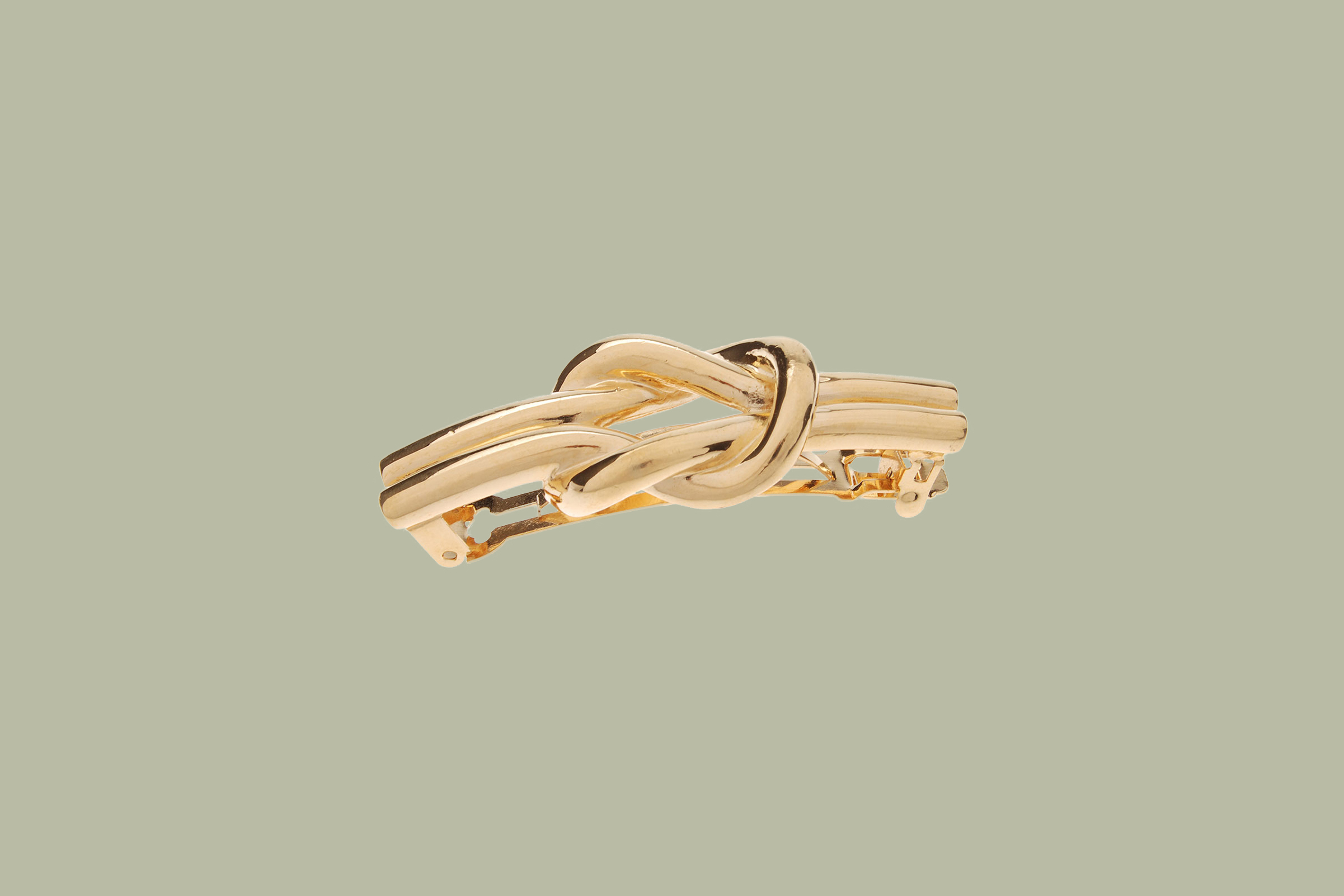 L. Erickson Nautical Knot Metal Barrette