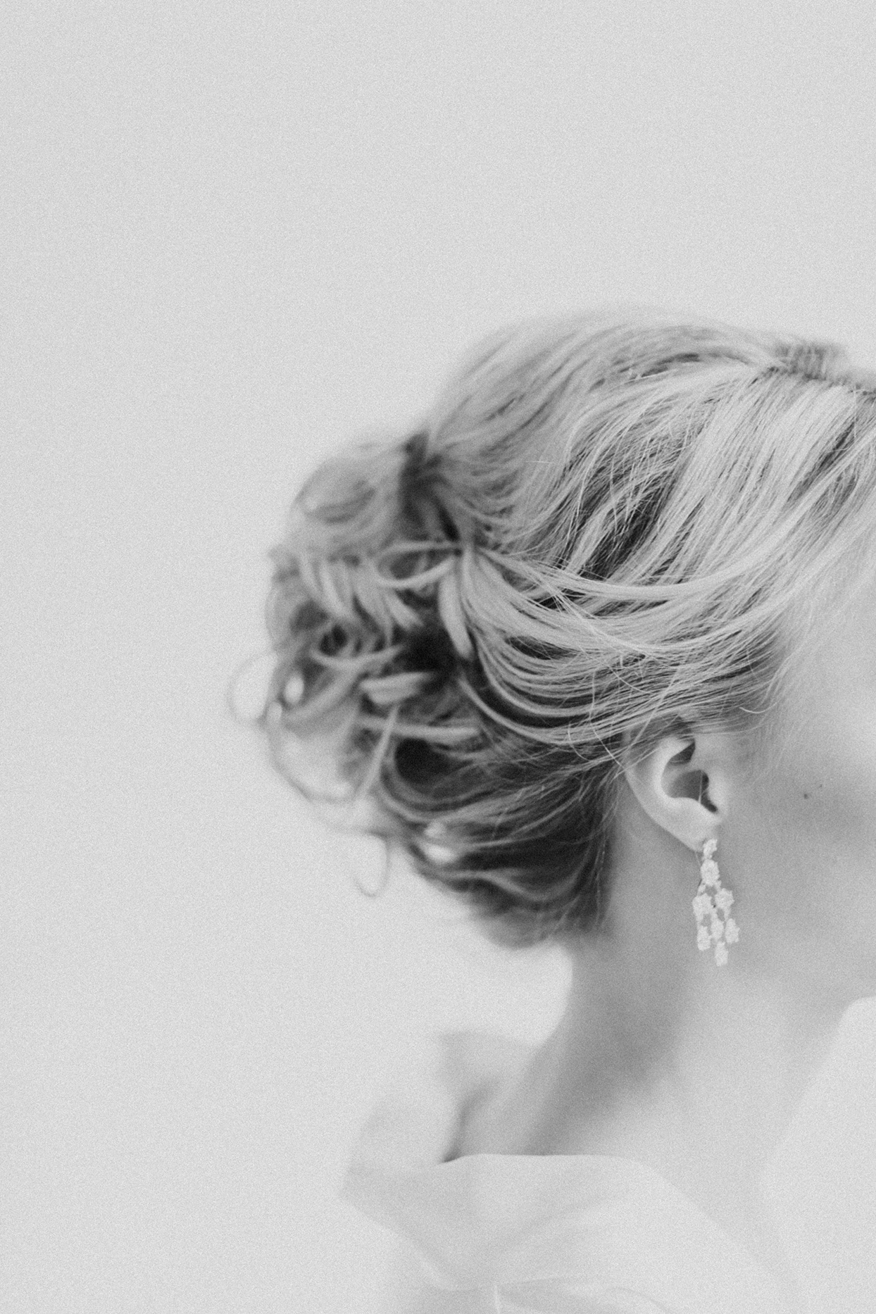 kiira arthur wedding bridal updo side profile