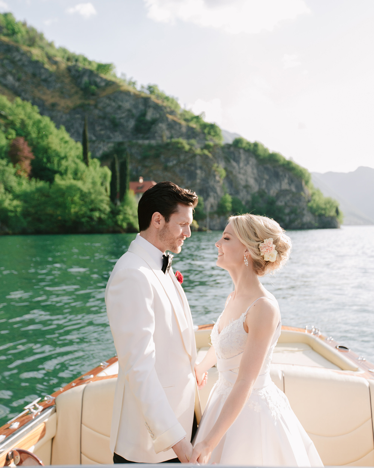 This Couple and Their 80 Guests Traveled by Boat to Their Breathtaking Wedding on Lake Como