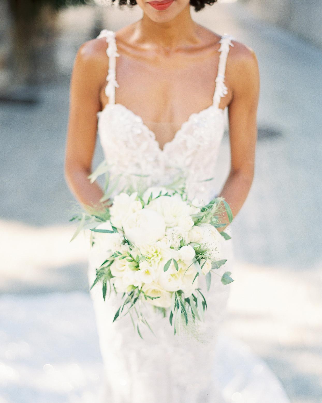 patricia ralph bride's white wedding bouquet