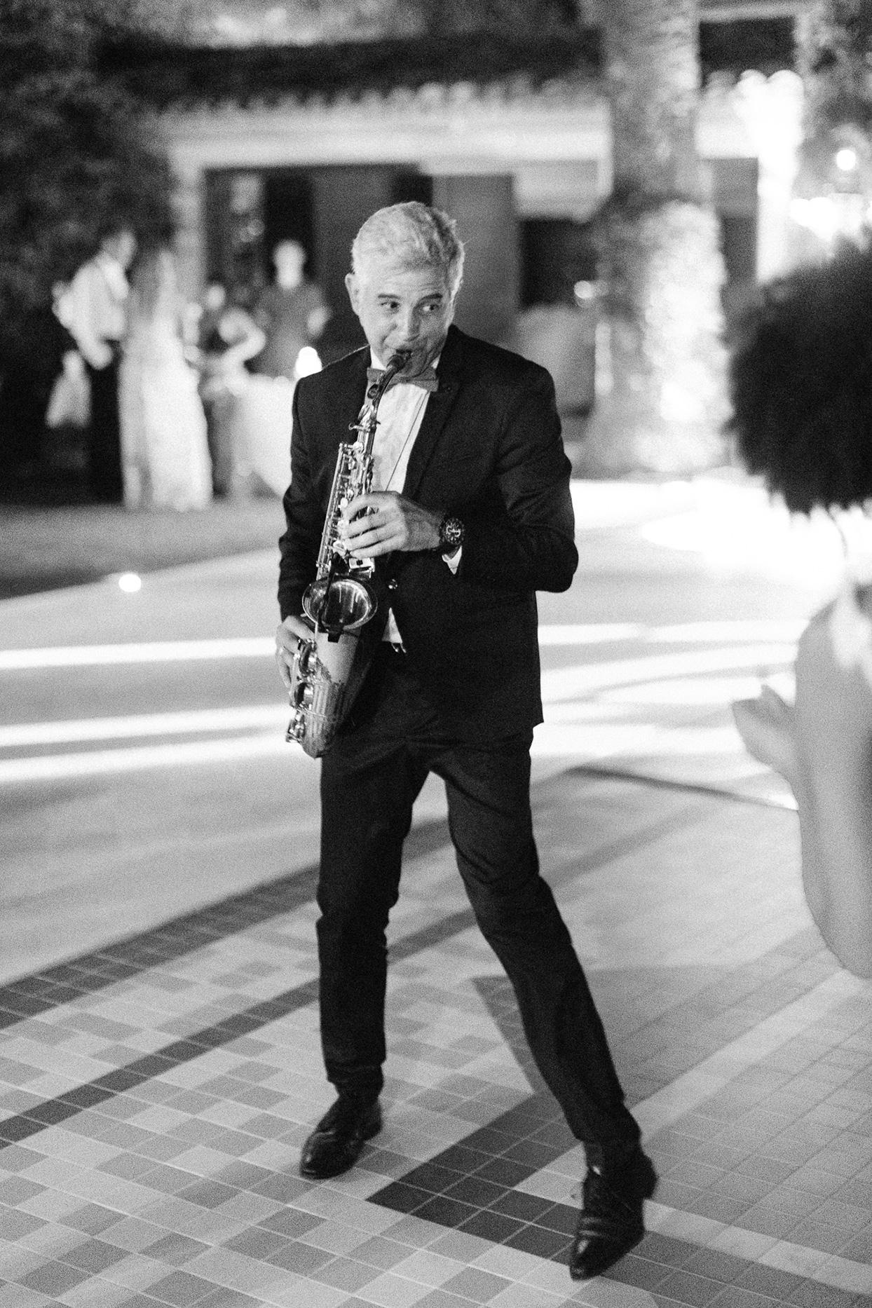 patricia ralph wedding saxophone player