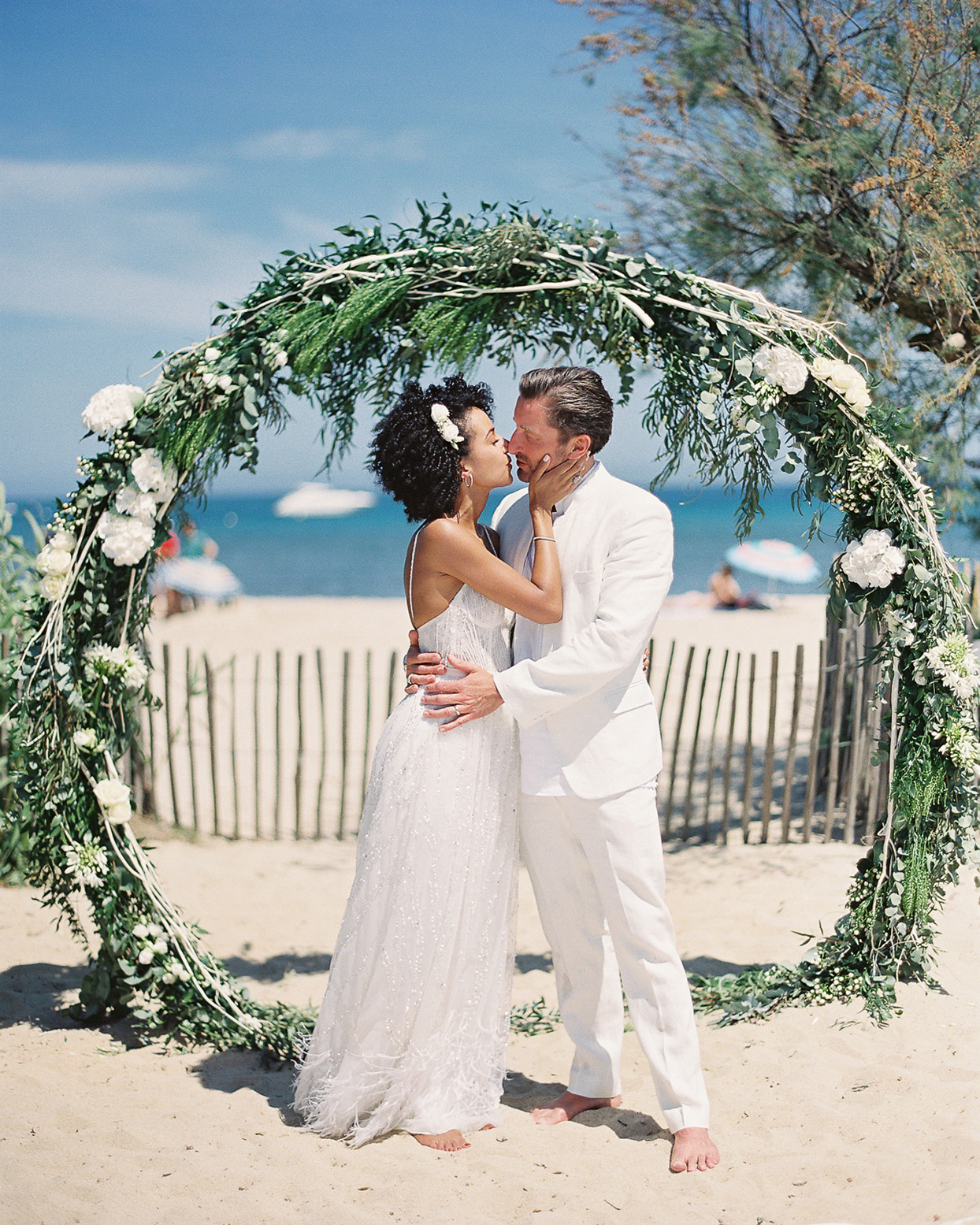 This Couple Followed Their Bohemian Wedding Ceremony in Saint-Tropez with a Black-Tie Reception