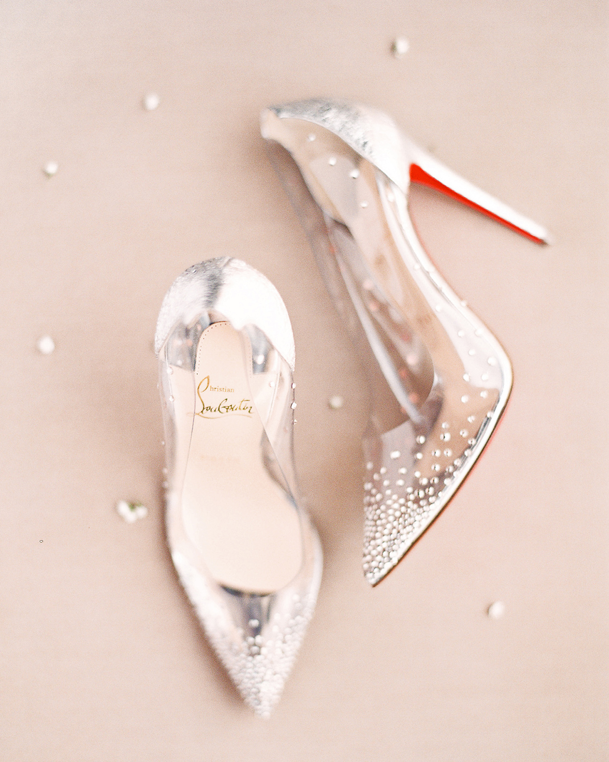 patricia ralph clear bedazzled wedding shoes