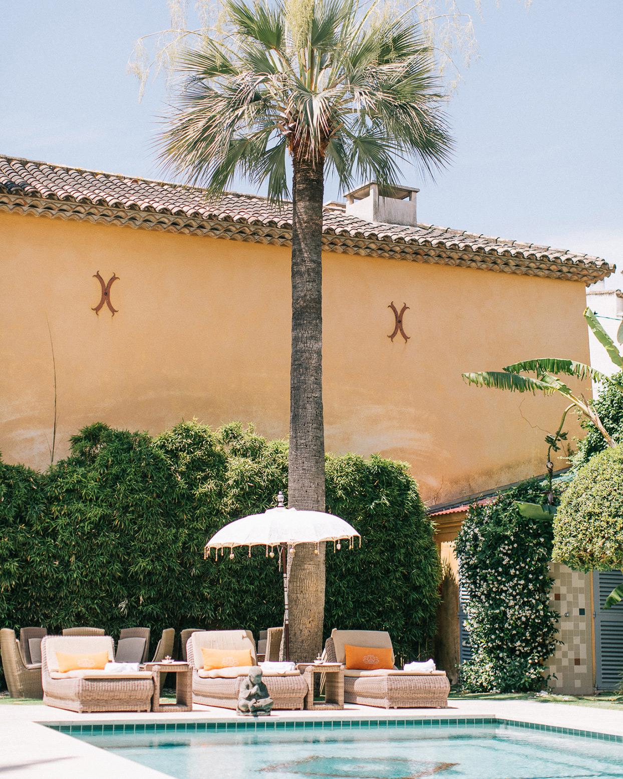 patricia ralph wedding pool and palm tree
