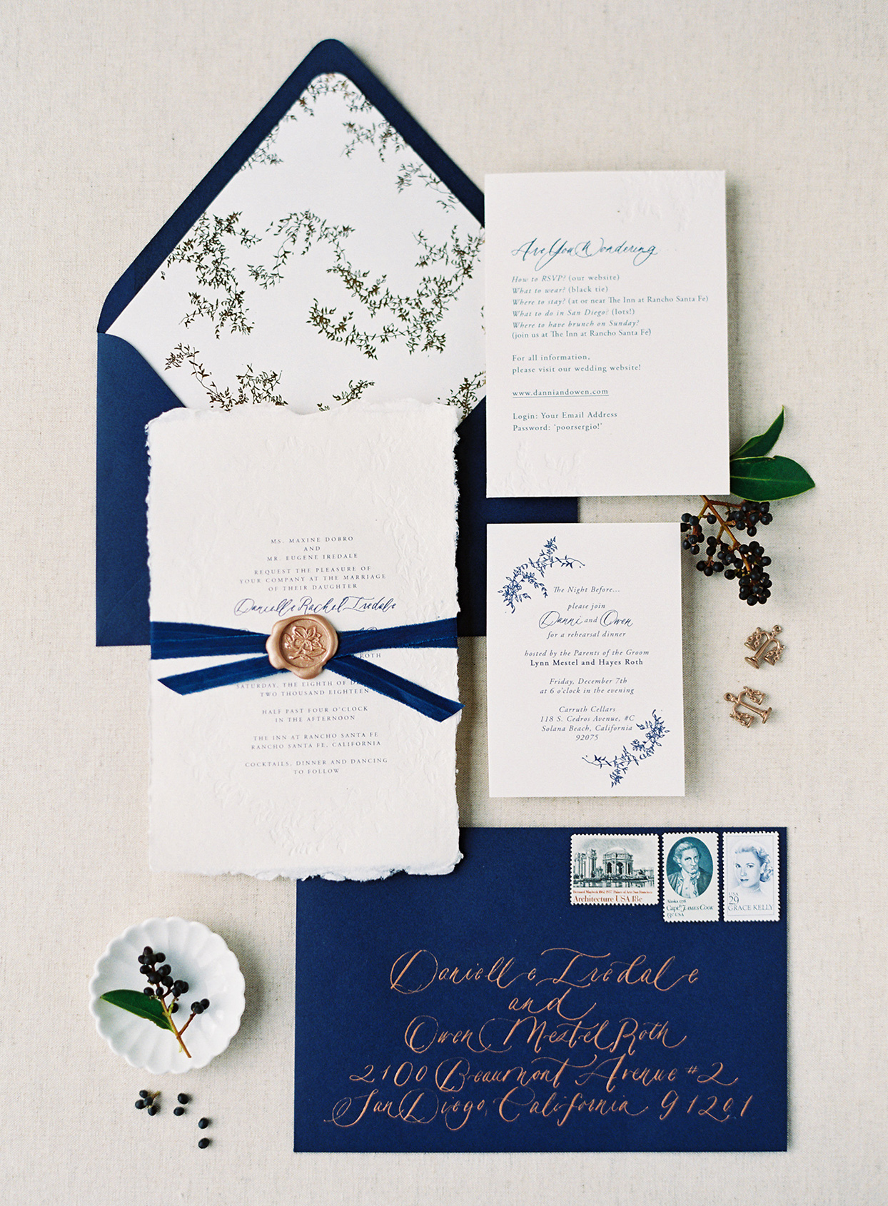 seasonal illustrations fall wedding invitations