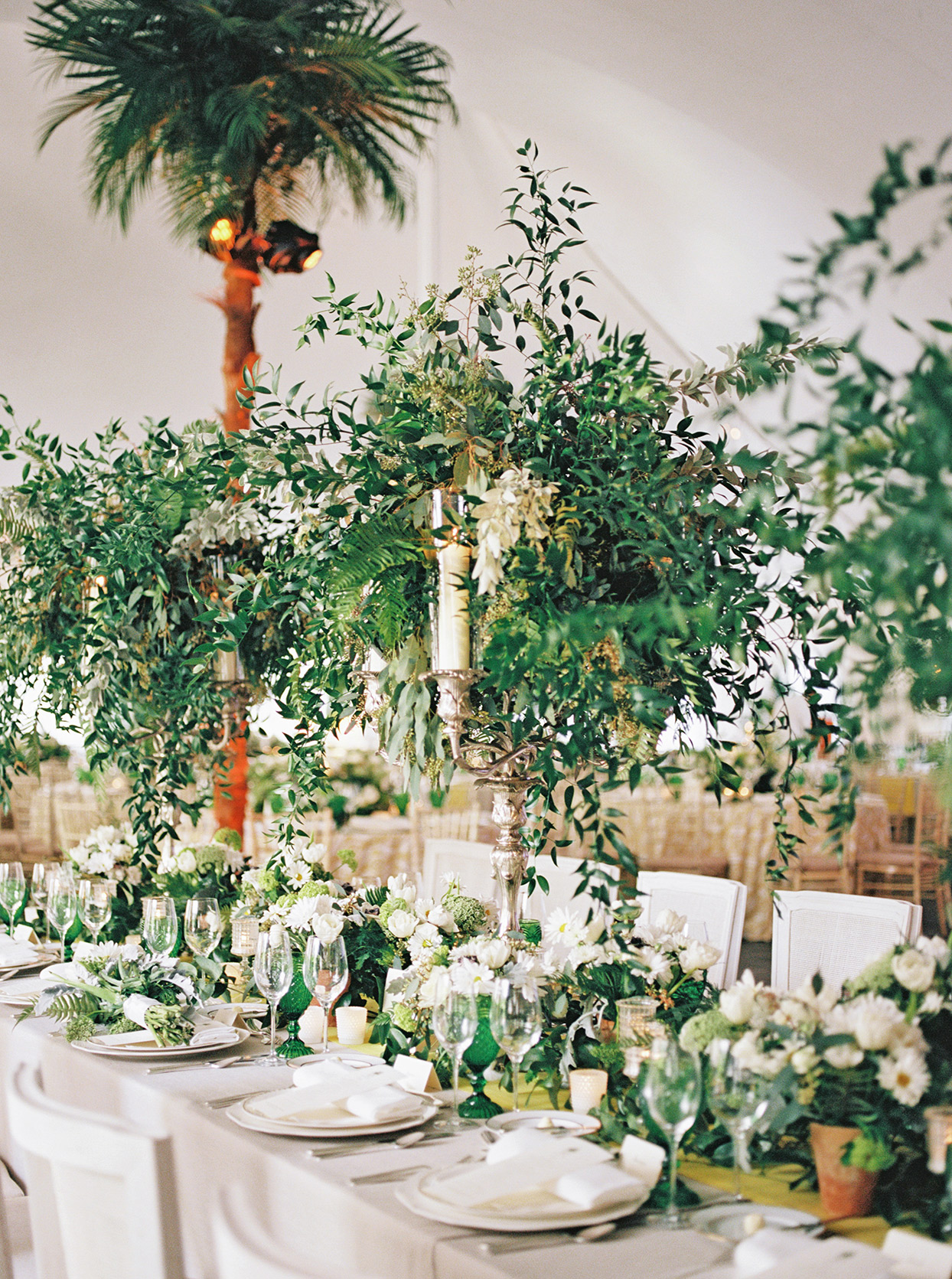sofia alberto wedding reception centerpieces