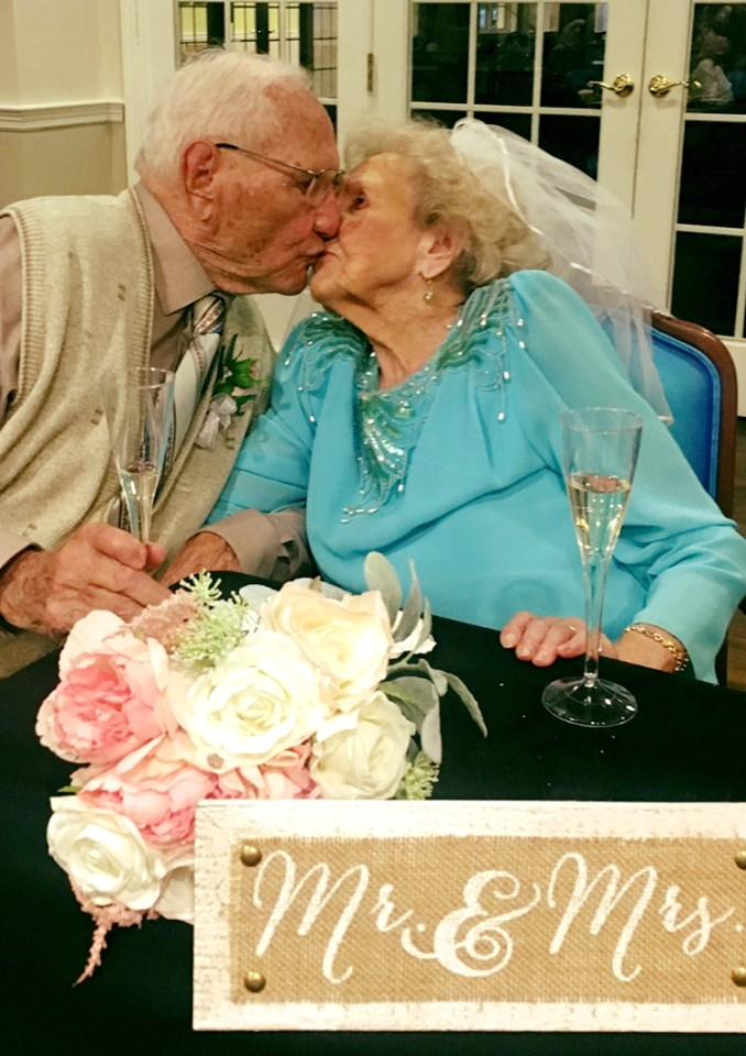 These Newlyweds—He's 100 and She's 103—Just Threw the Sweetest Wedding Reception