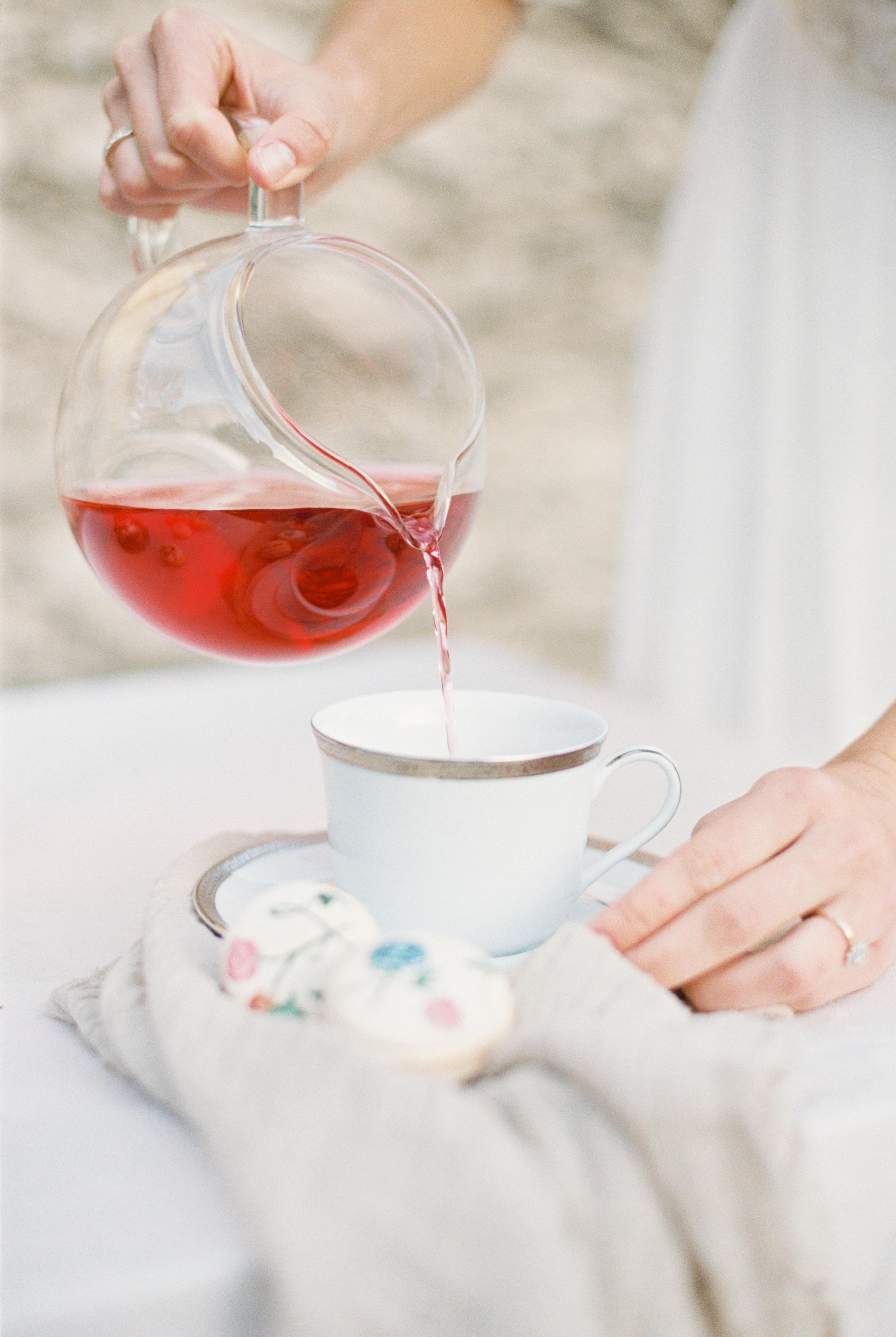 pink tea for bridal shower
