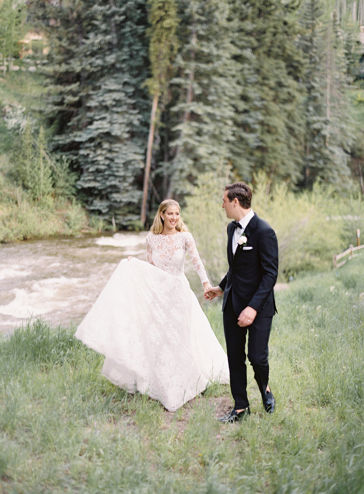 Ski Lifts Carried Guests Up, Up, and Away to This Couple's Colorado Wedding Venue
