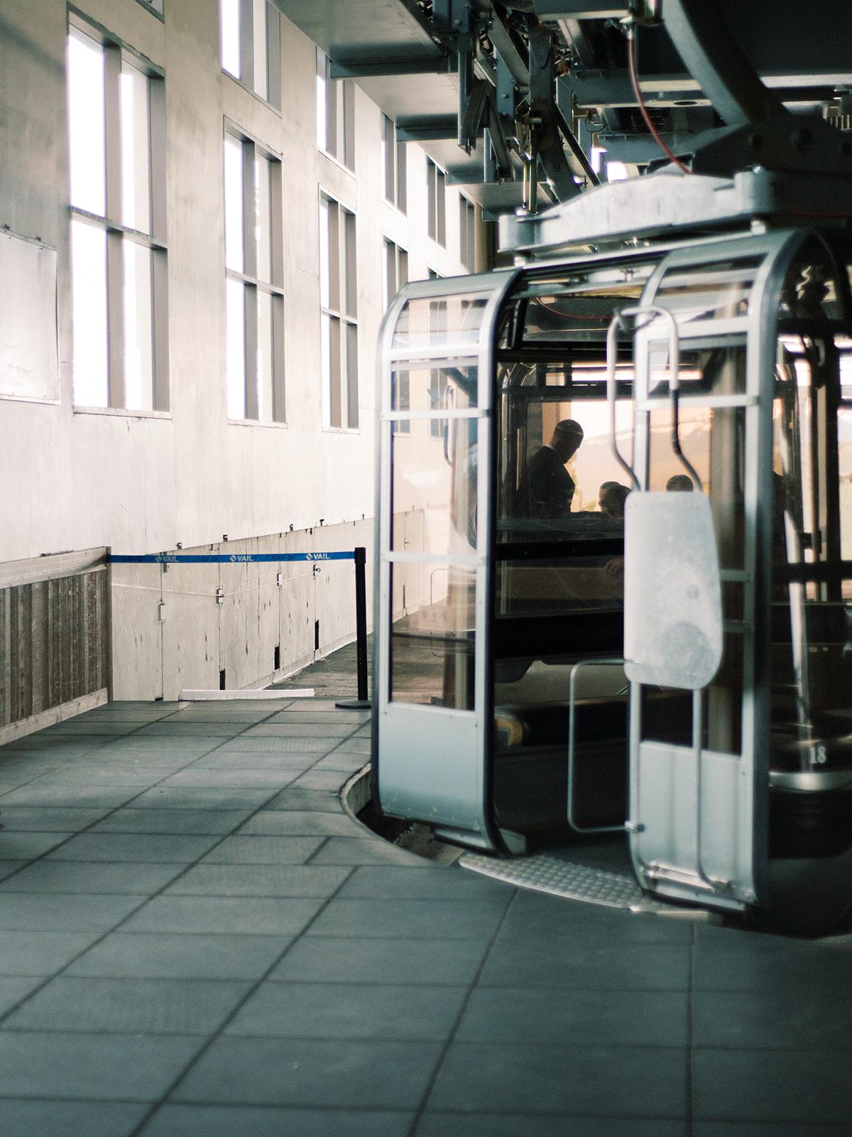 ski lift entry platform