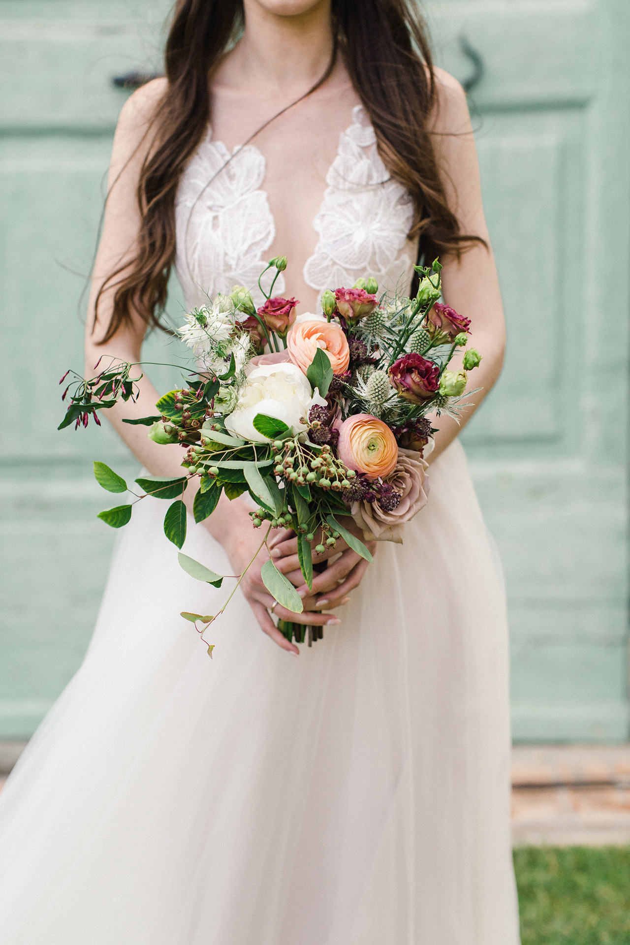 A Lush, Loose Bridal Bouquet
