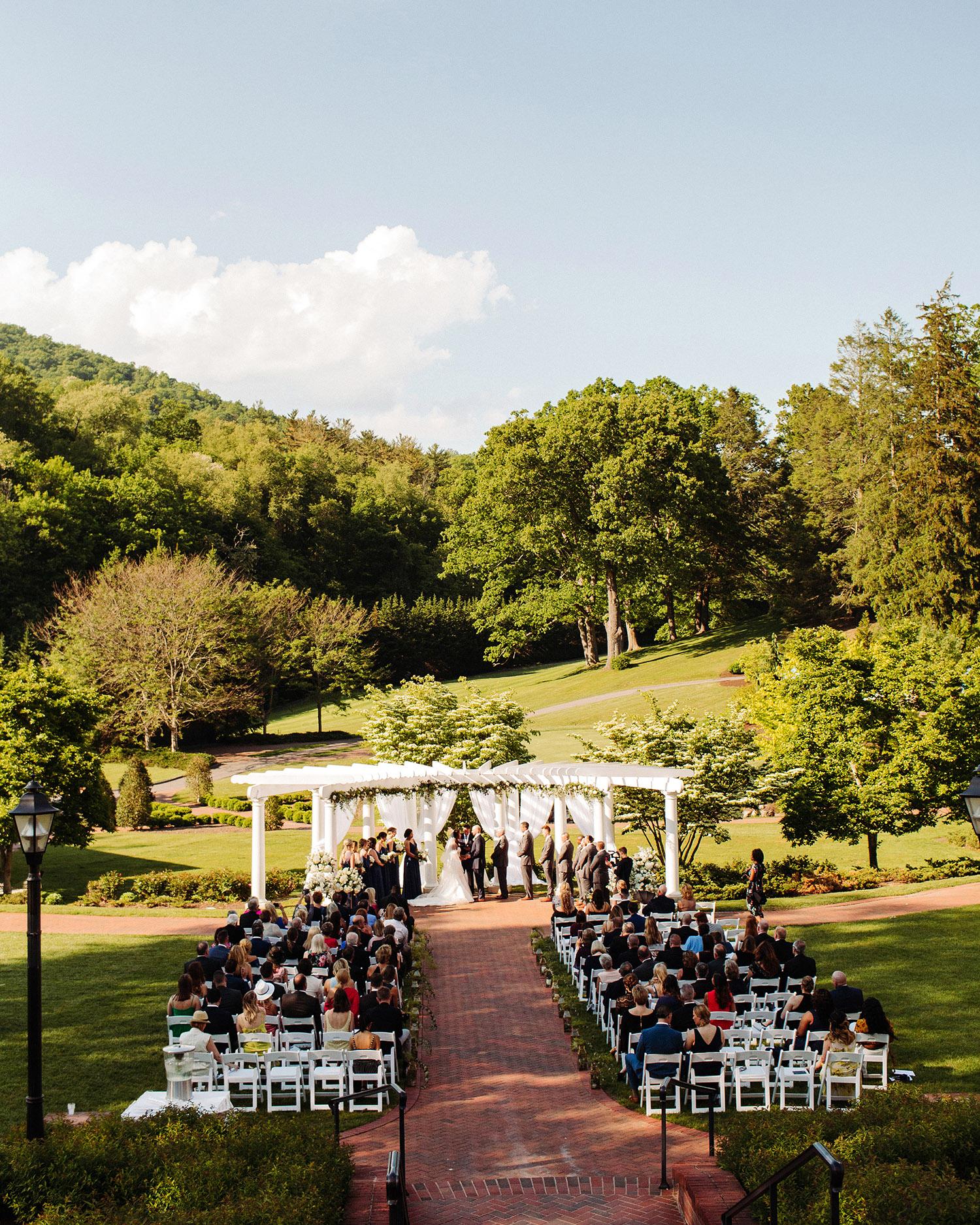bryanna nick wedding couple outdoor ceremony