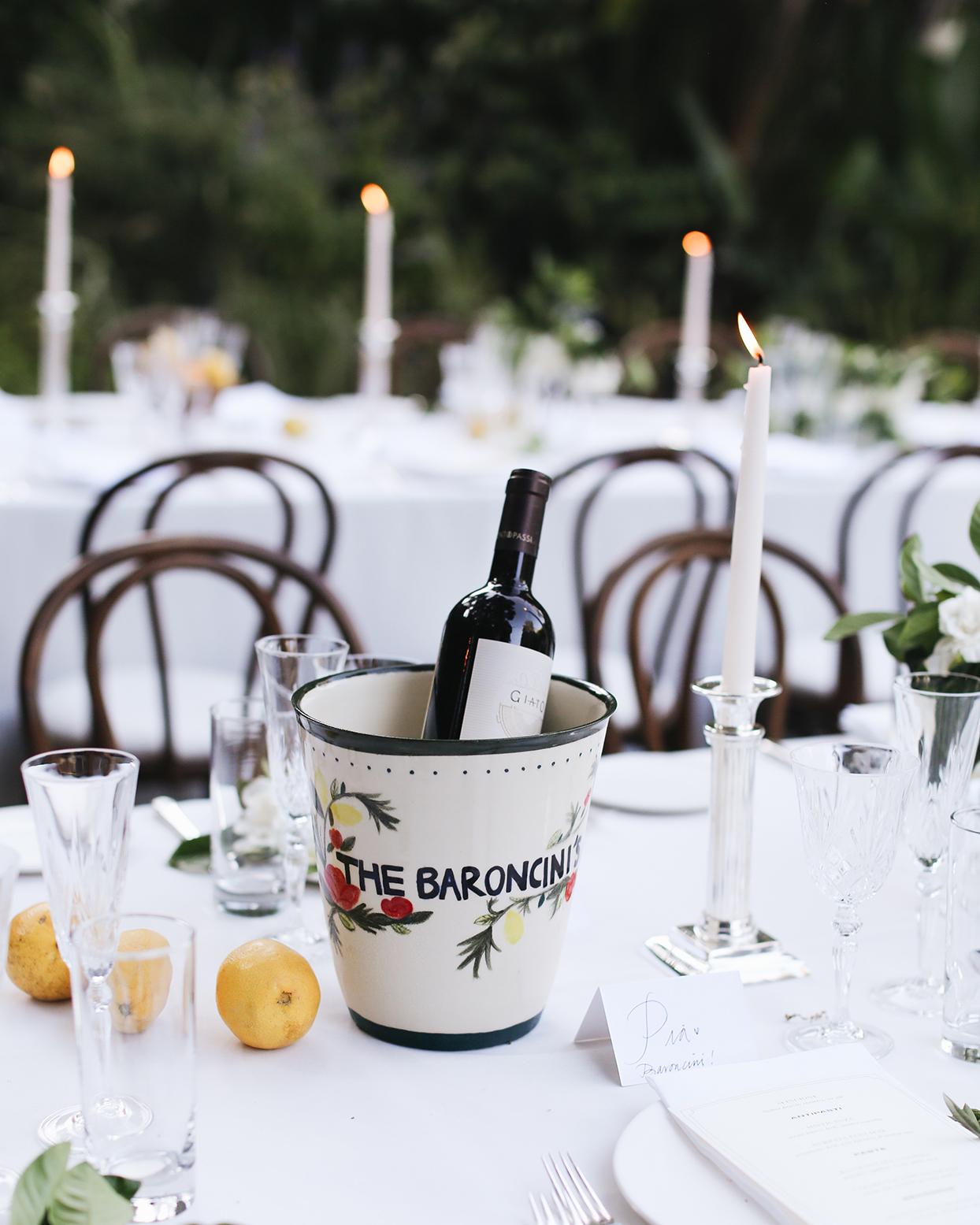 pia davide wedding personalized wine cooler