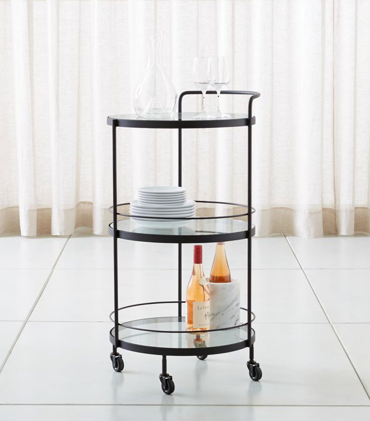"""crate and barrel """"noir"""" round bar"""