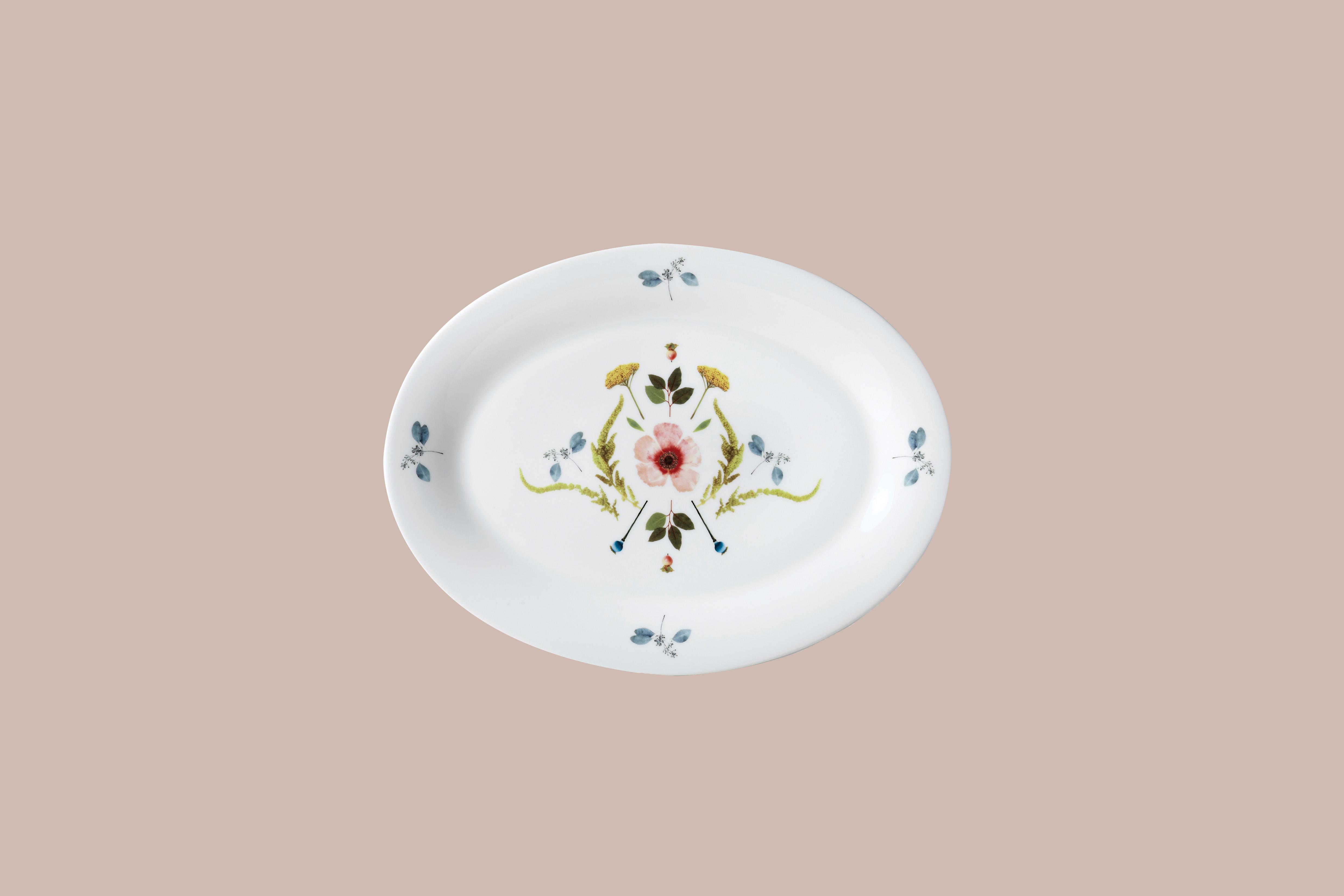 twig ny scandanavian floral platter