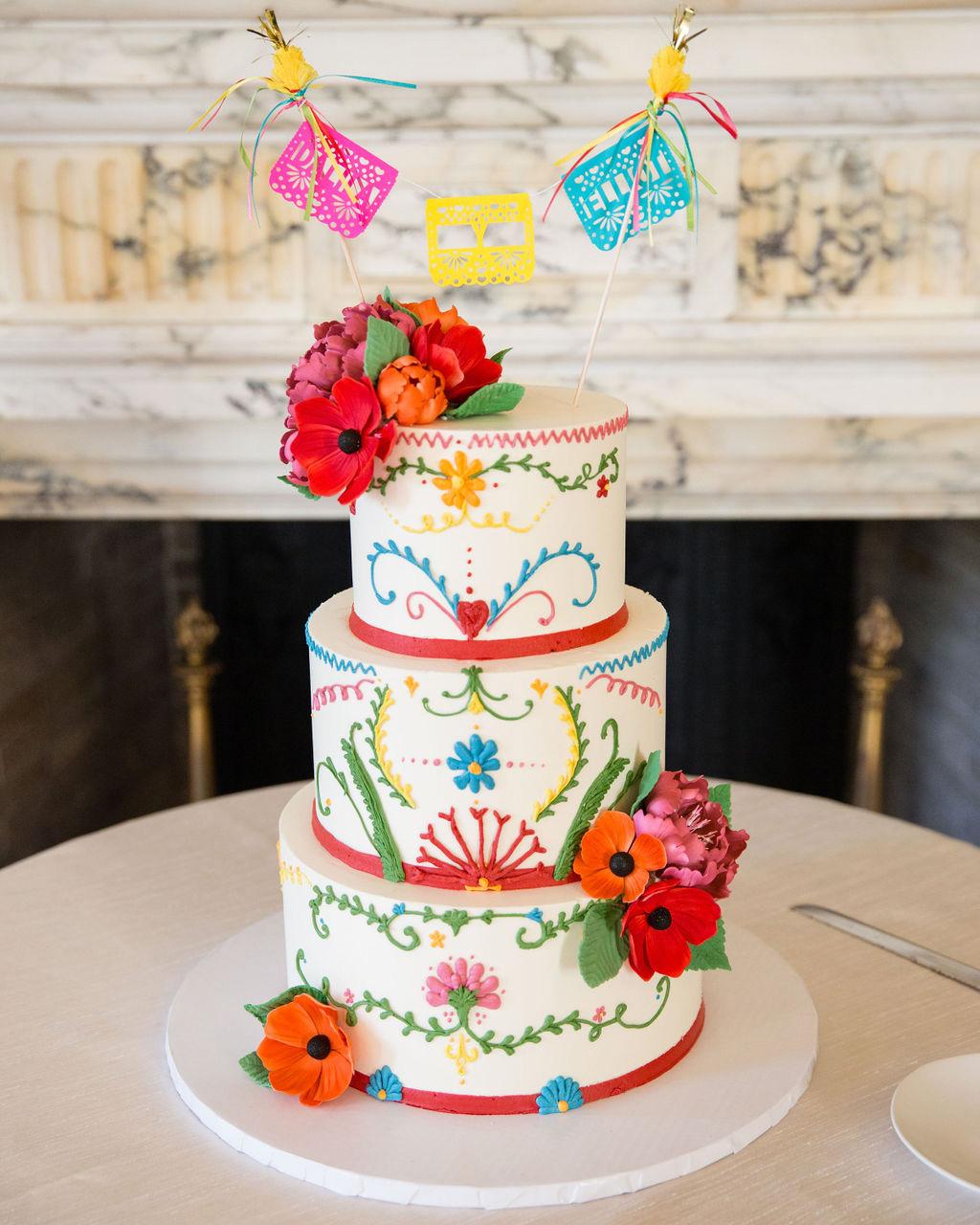 dalila elliot colorful wedding cake