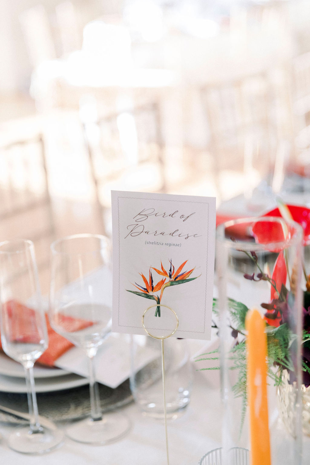 dalila elliot wedding table numbers with flowers
