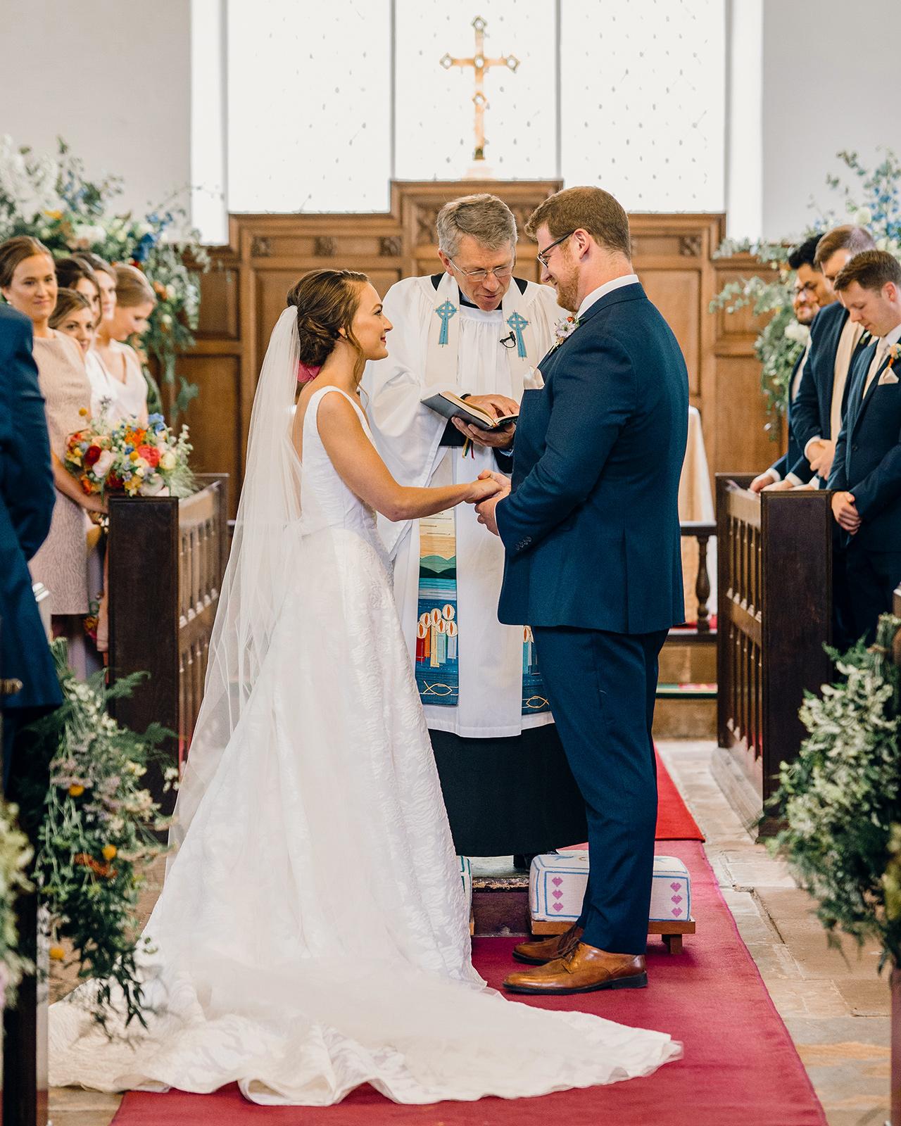church wedding ceremony vow exchange