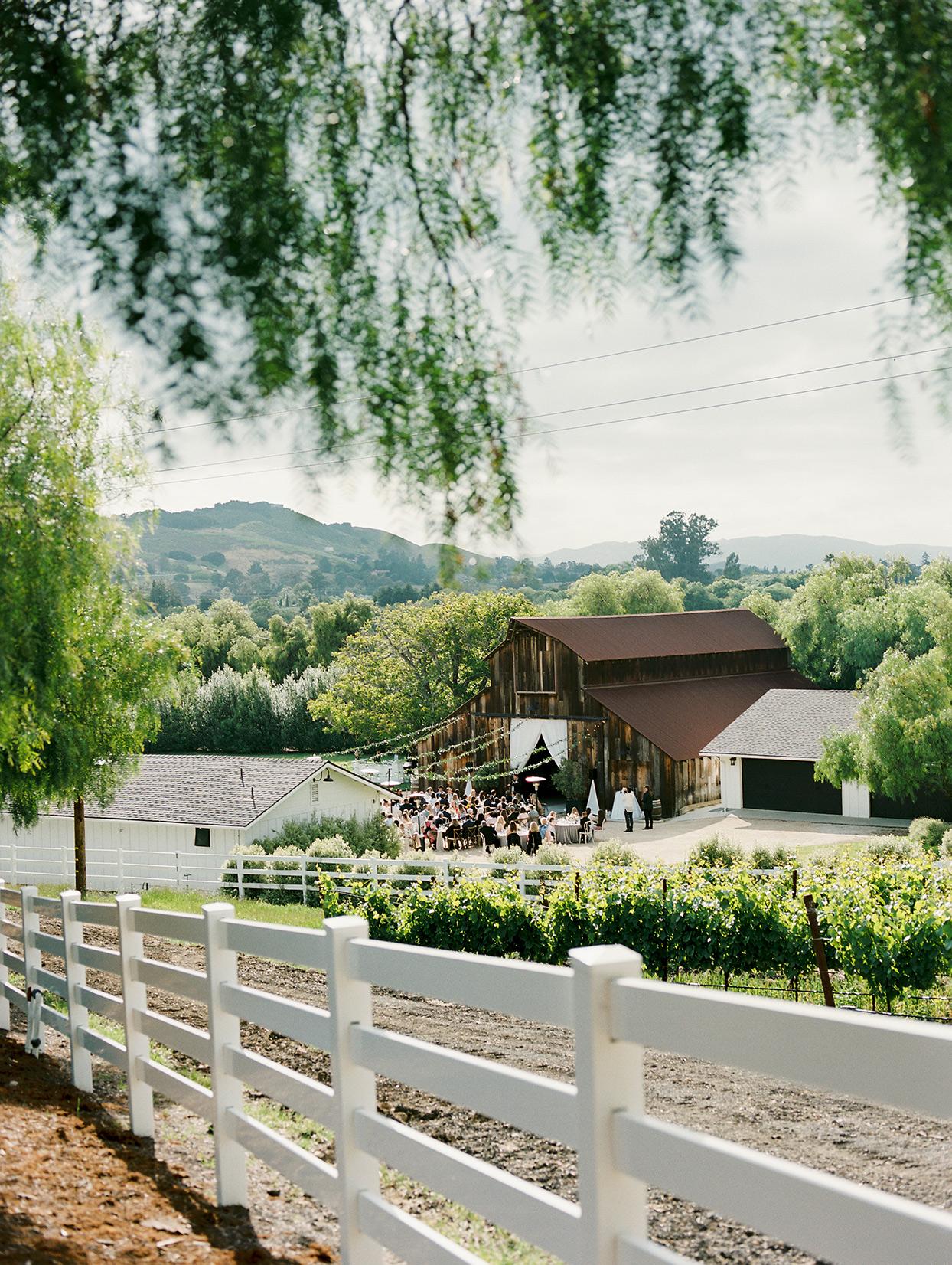 mika steve wedding cocktail hour on ranch