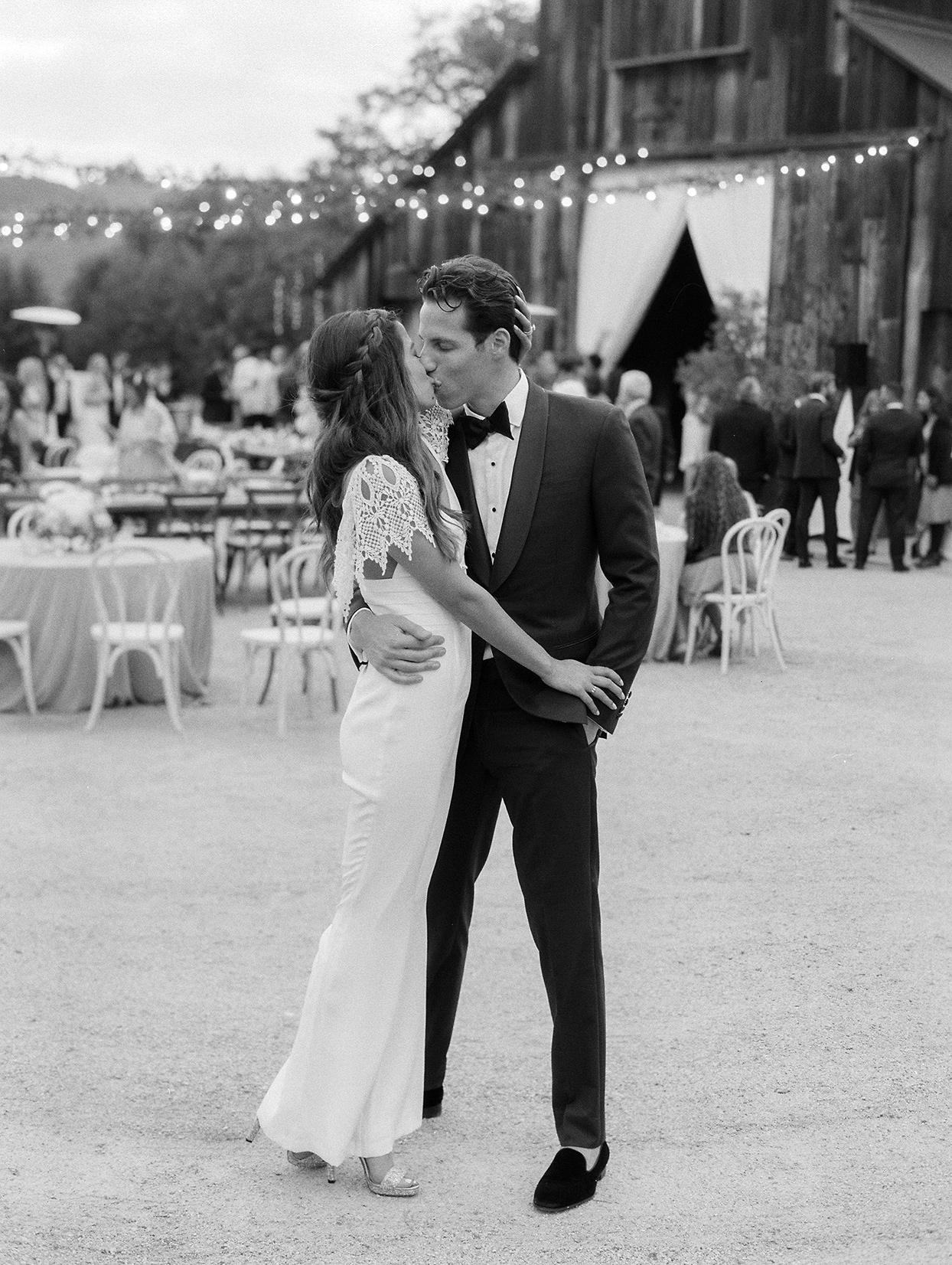 mika steve wedding reception dress couple kissing