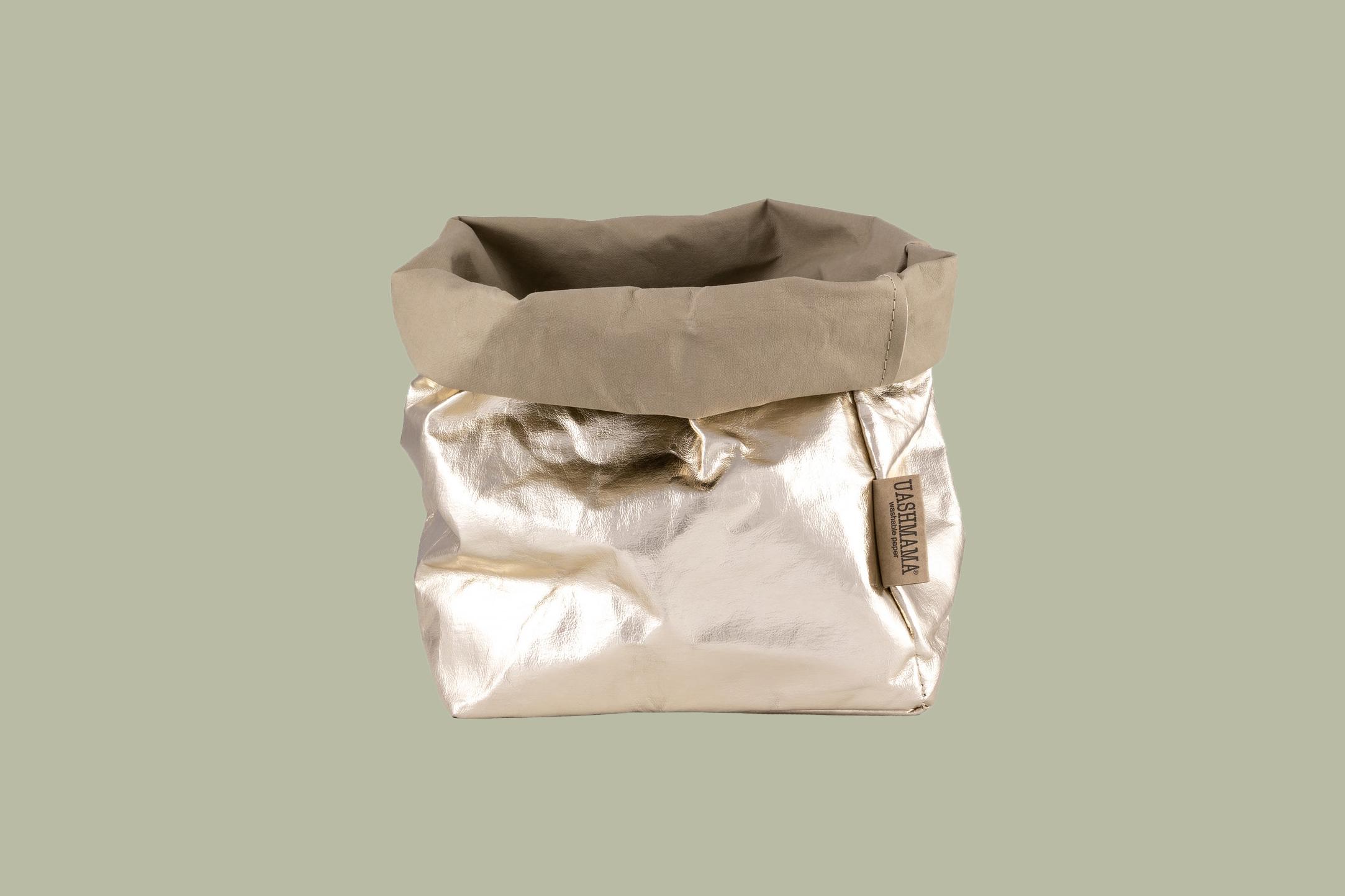 UASHMAMA Paper Bag Metallic Large Plus