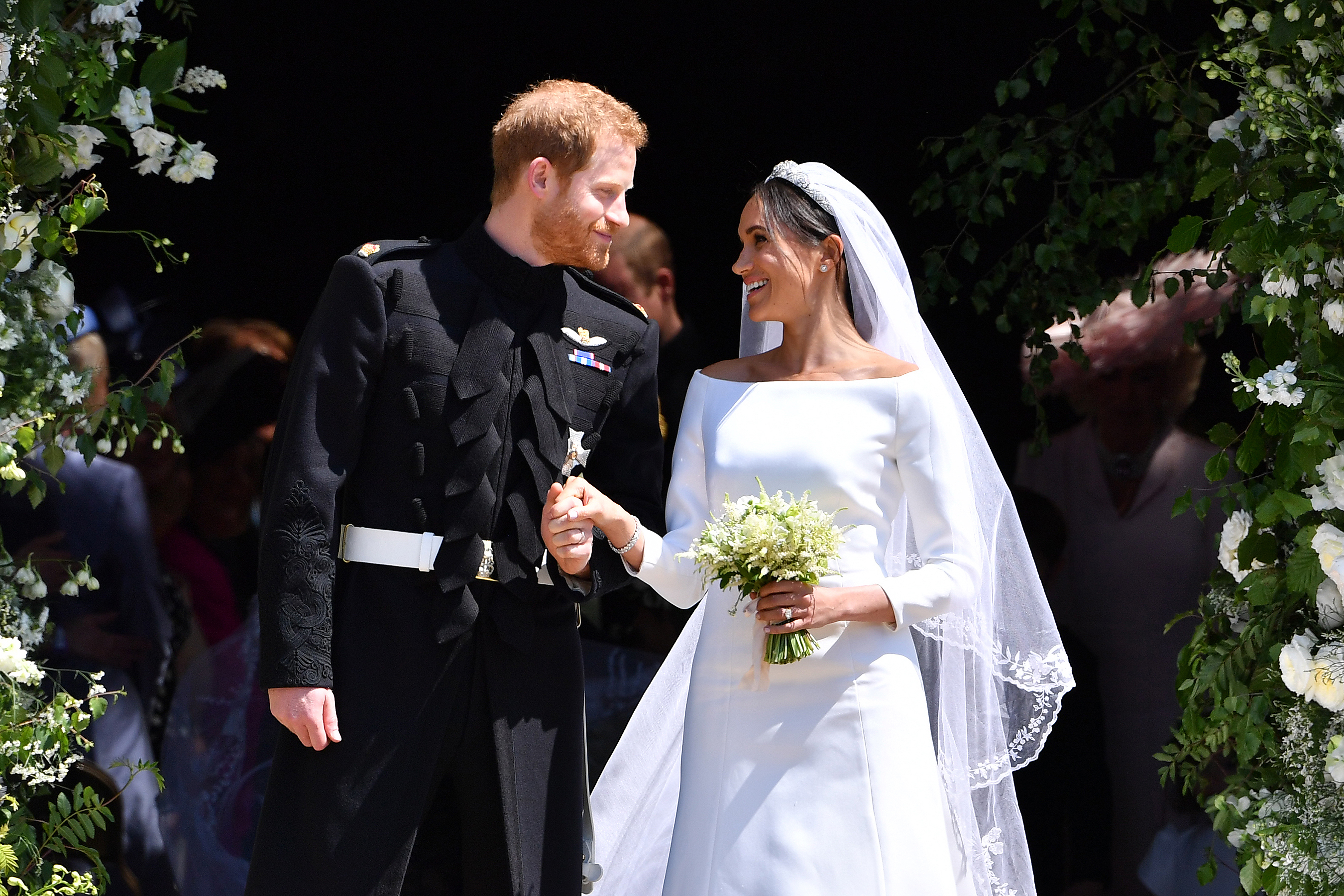 This Is the Wedding Photo Meghan Markle and Prince Harry Chose for Their Anniversary Thank-You Notes