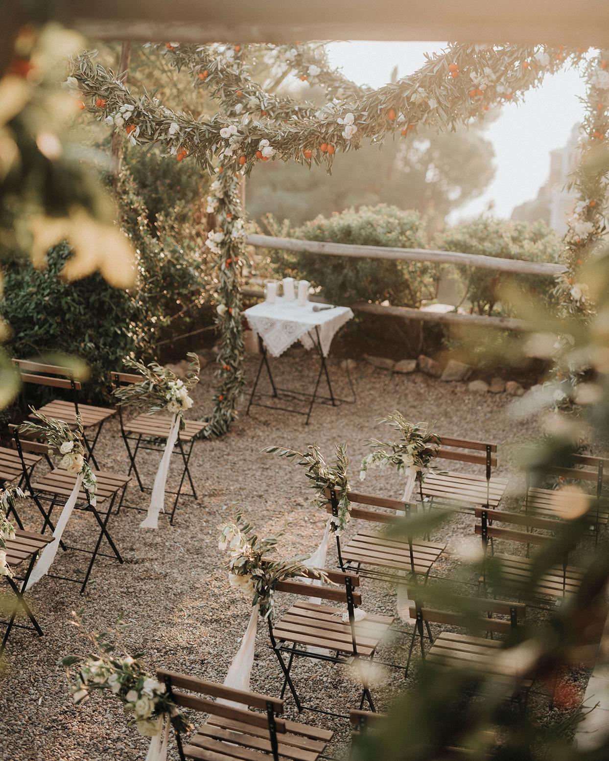 jaclyn antonio wedding ceremony space chairs