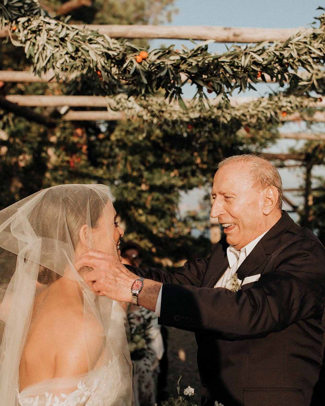 jaclyn antonio wedding father unveiling bride ceremony