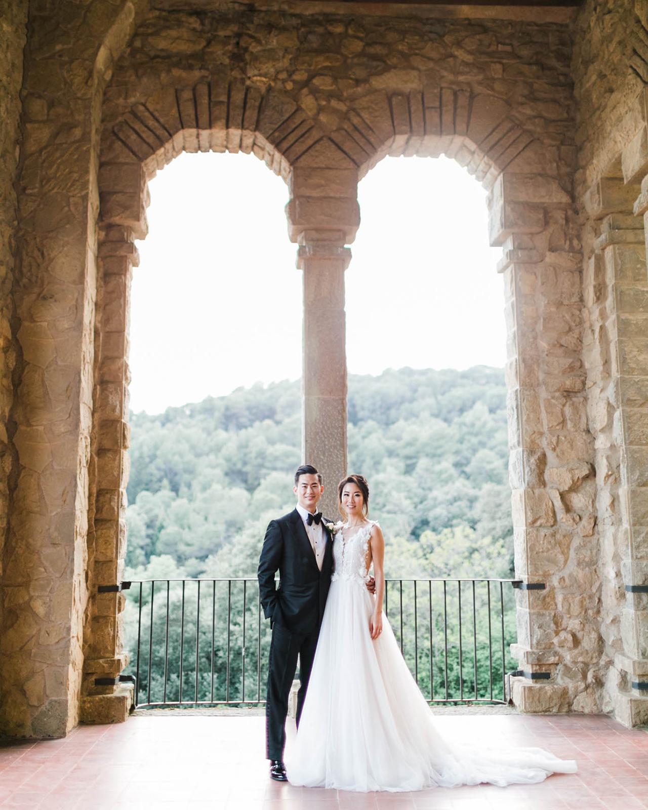 One Couple's Elegant Destination Wedding in Spain's Montserrat Mountains