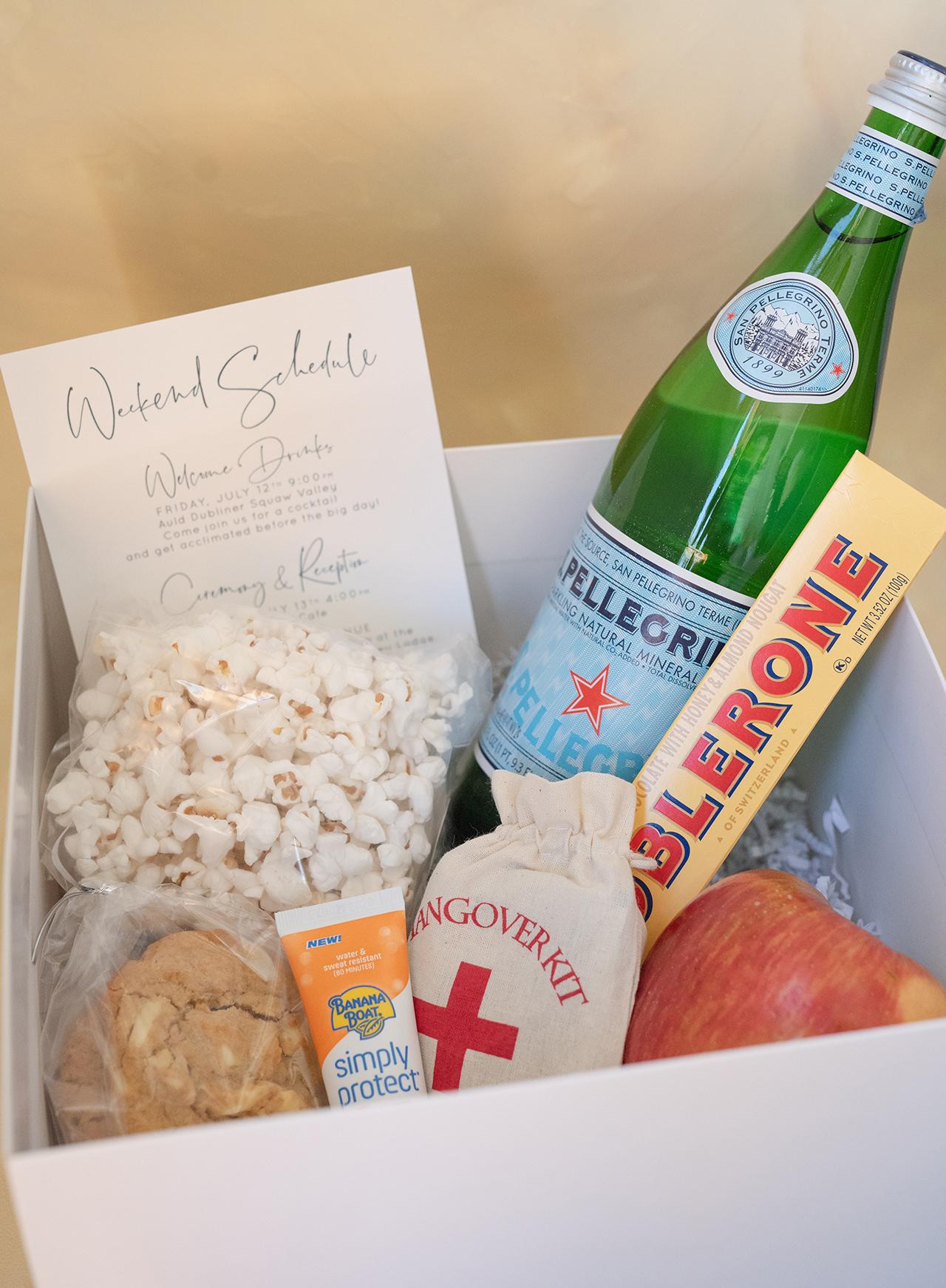 Wedding Guest Welcome Box Snacks Essentials