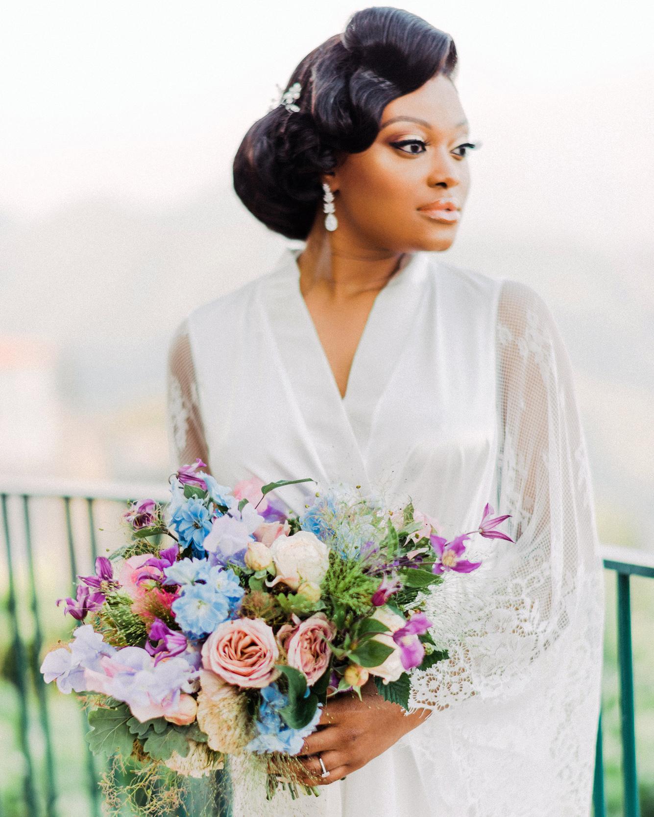 onome efe wedding bride bouquet