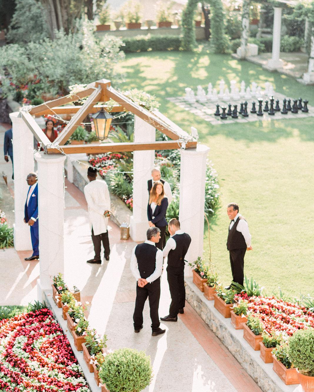 onome efe wedding cocktail hour venue