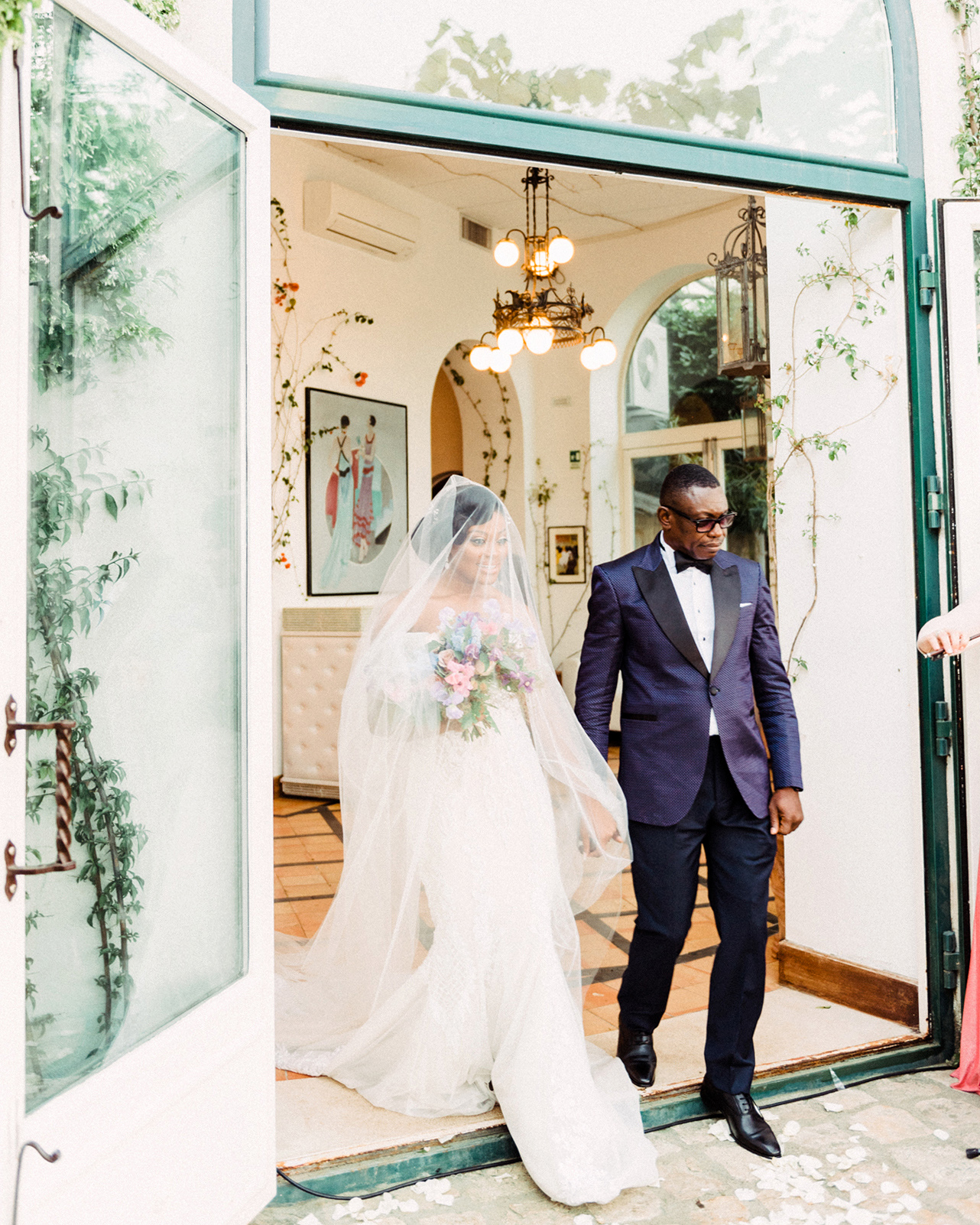 onome efe wedding couple processional
