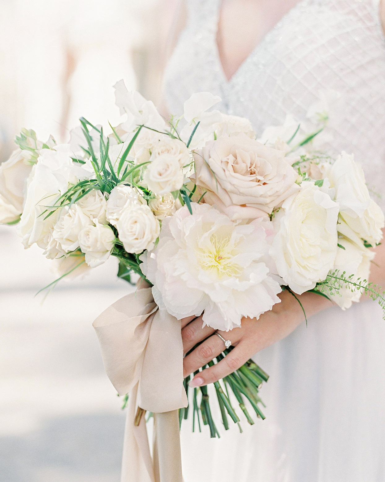 krystyna alexander bride's white and pastel wedding bouquet