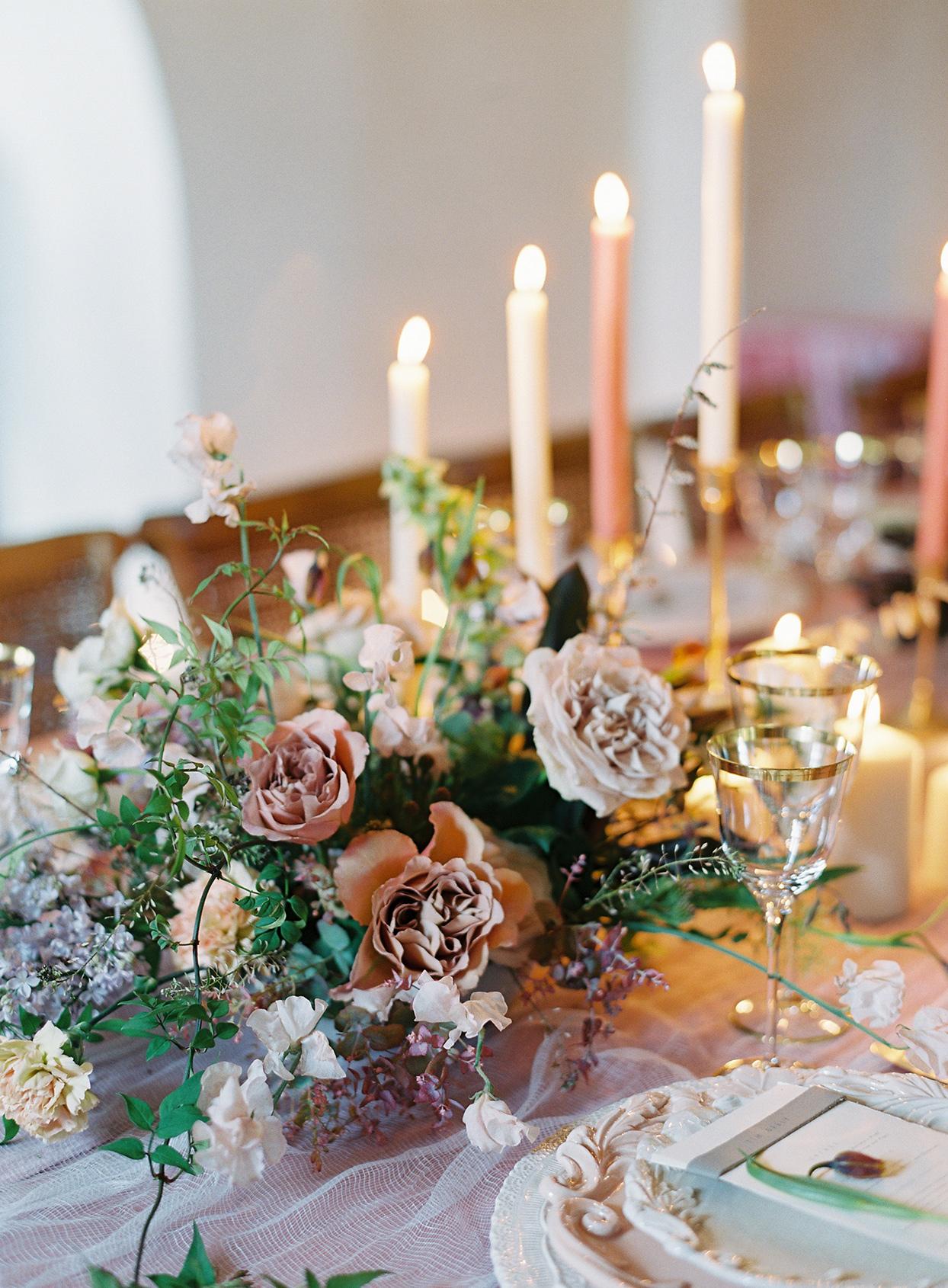 jen alan wedding floral centerpiece